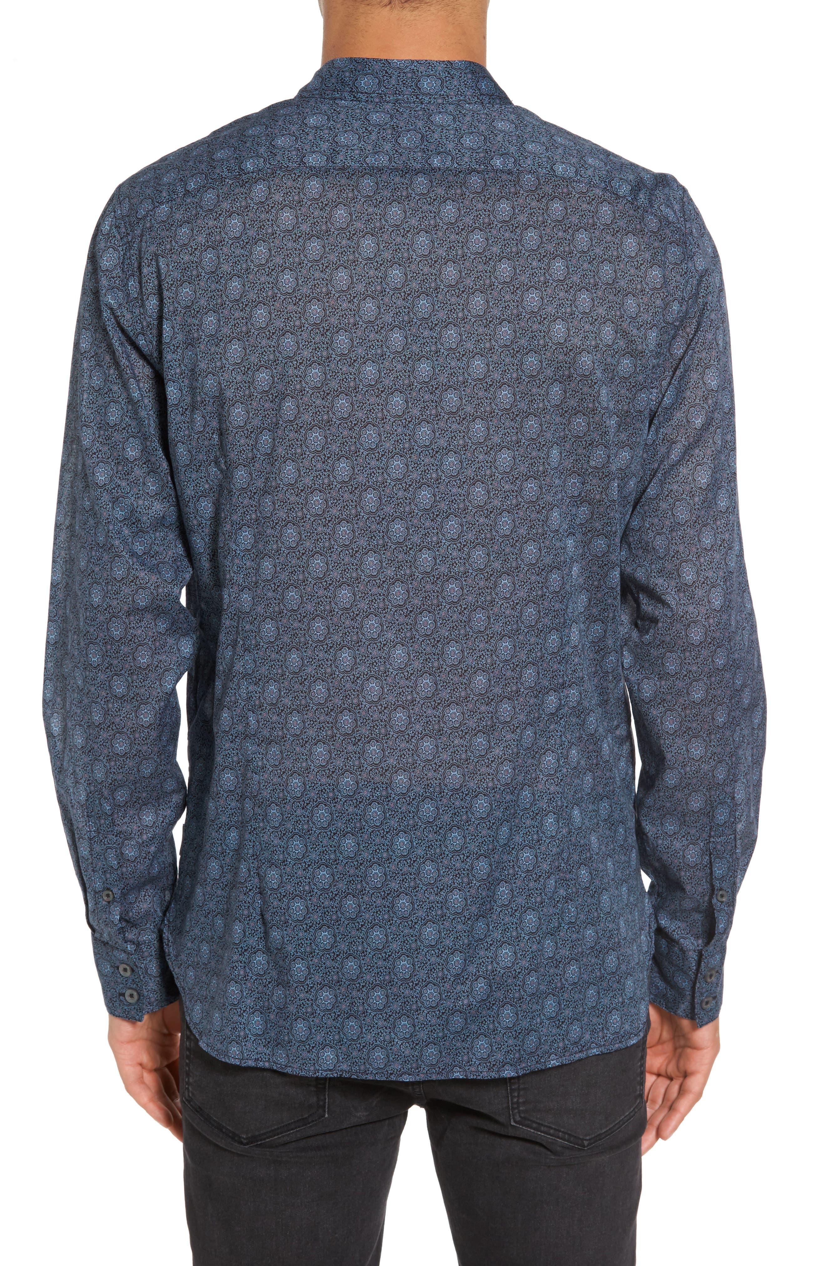 Slim Fit Mosaic Print Sport Shirt,                             Alternate thumbnail 2, color,                             414