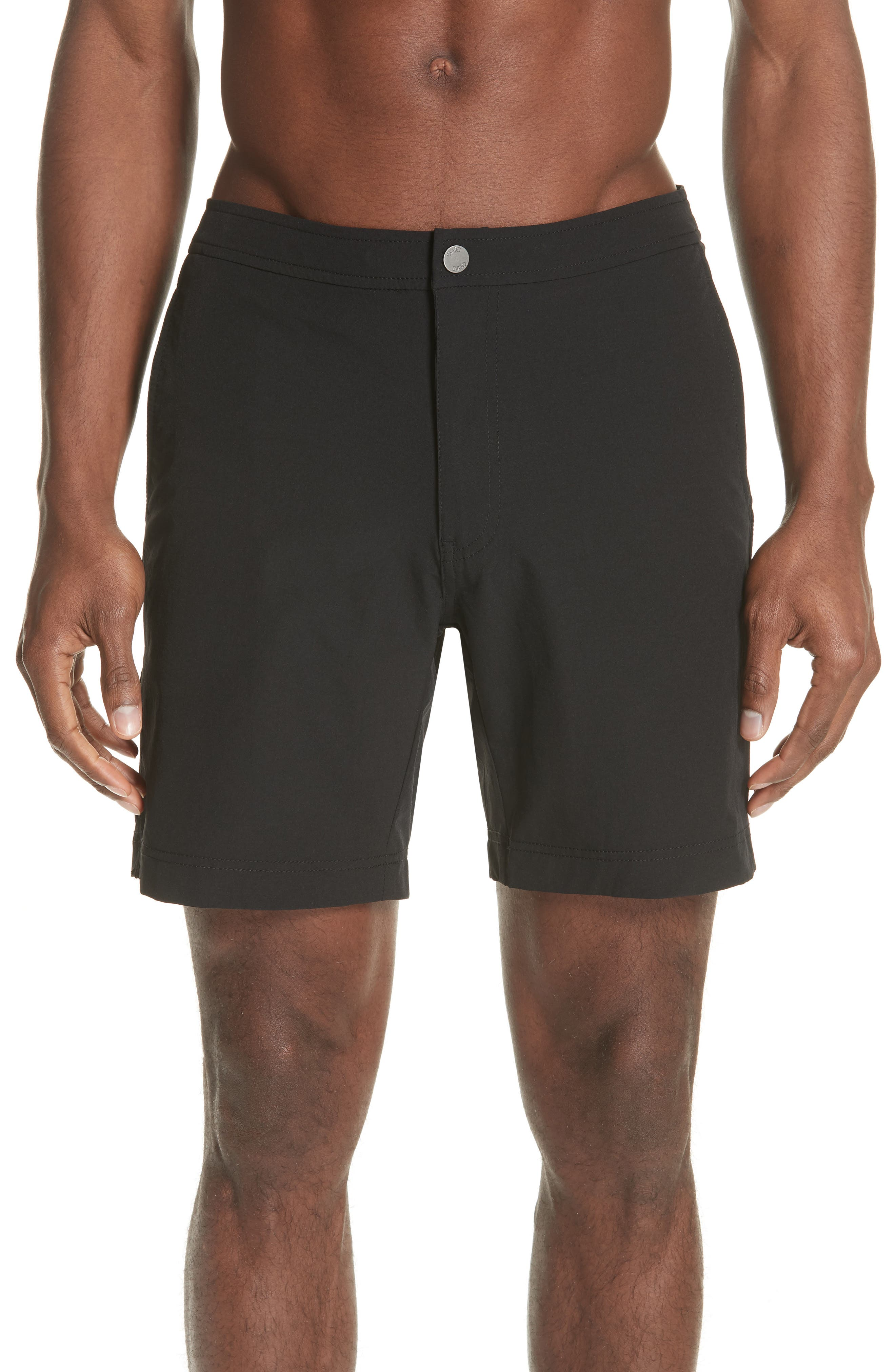 Calder Swim Trunks,                         Main,                         color, BLACK