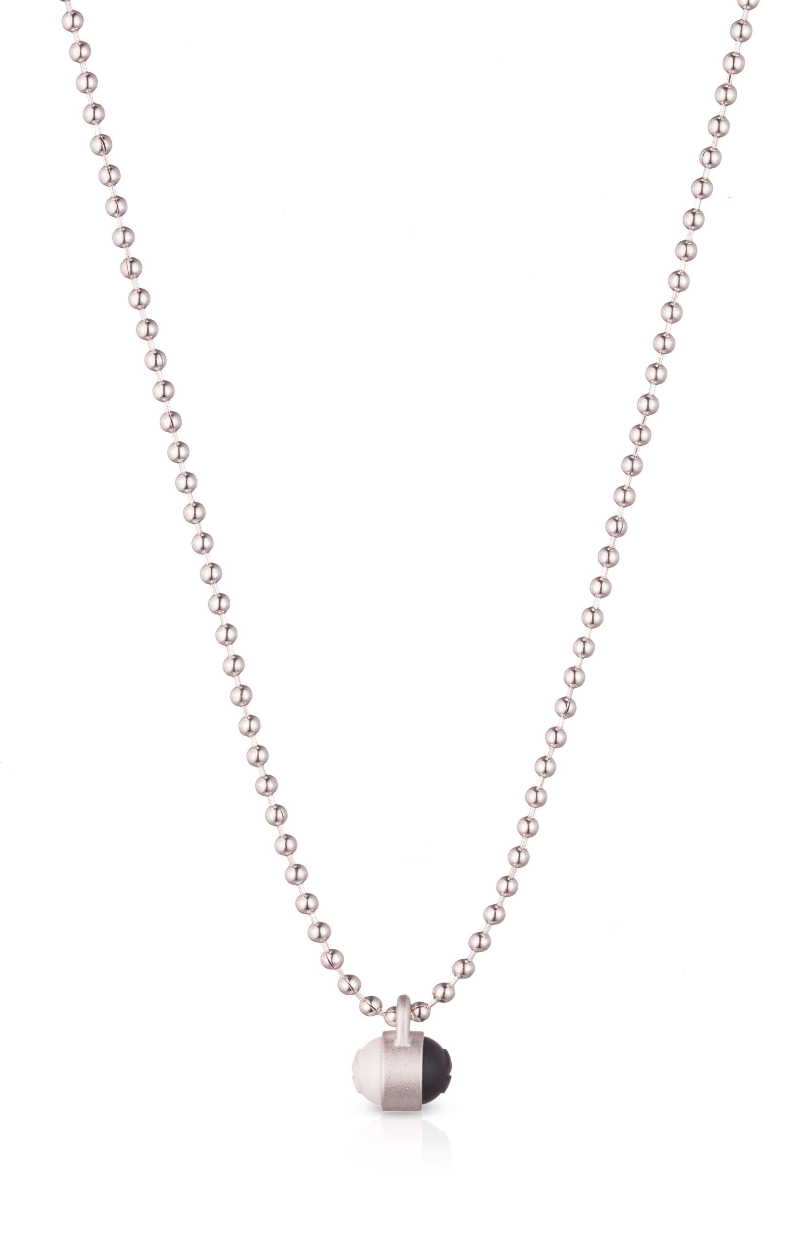 Pendant Ball Chain Necklace,                             Main thumbnail 2, color,