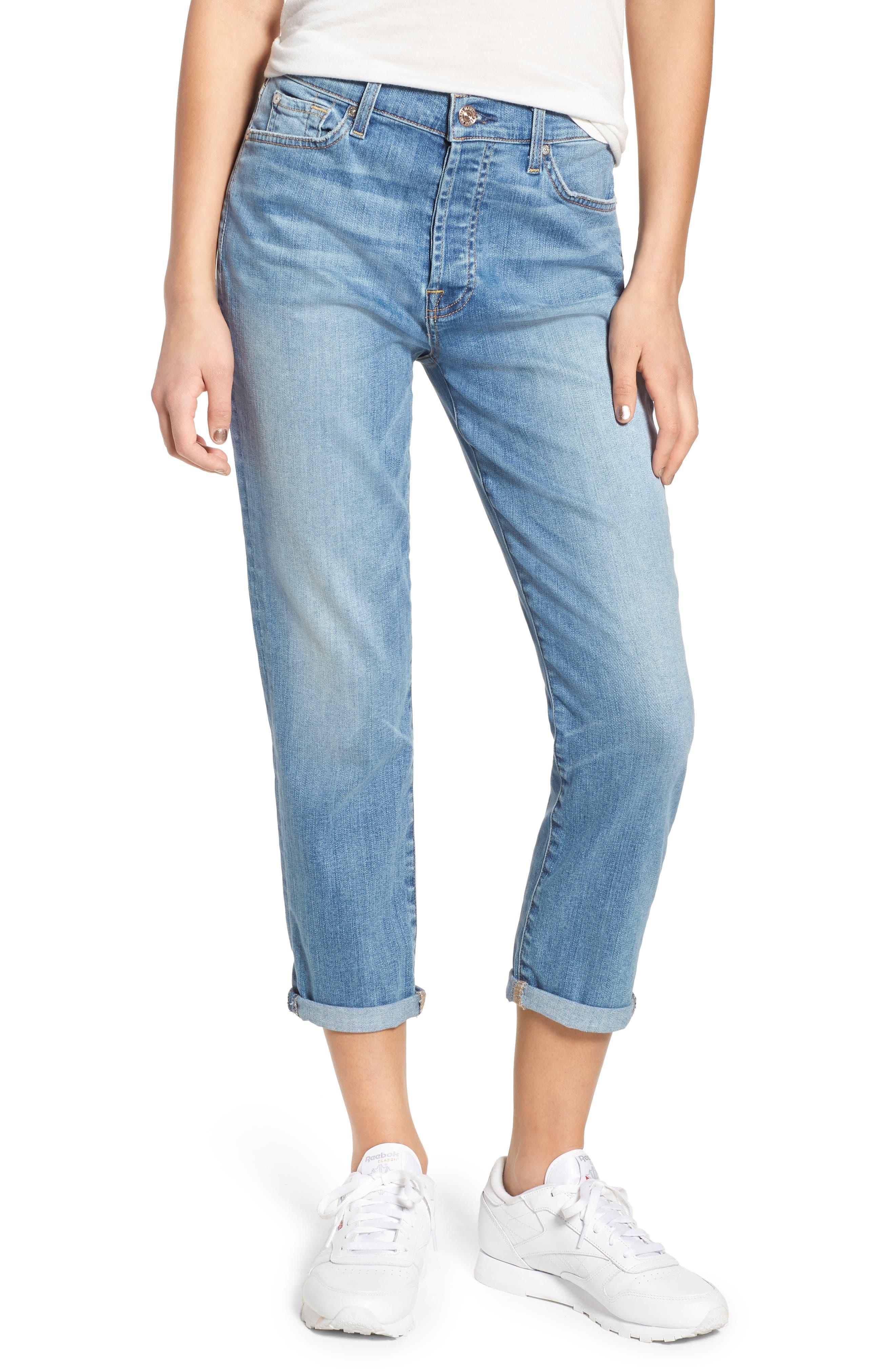 Josefina High Waist Boyfriend Jeans,                             Main thumbnail 1, color,