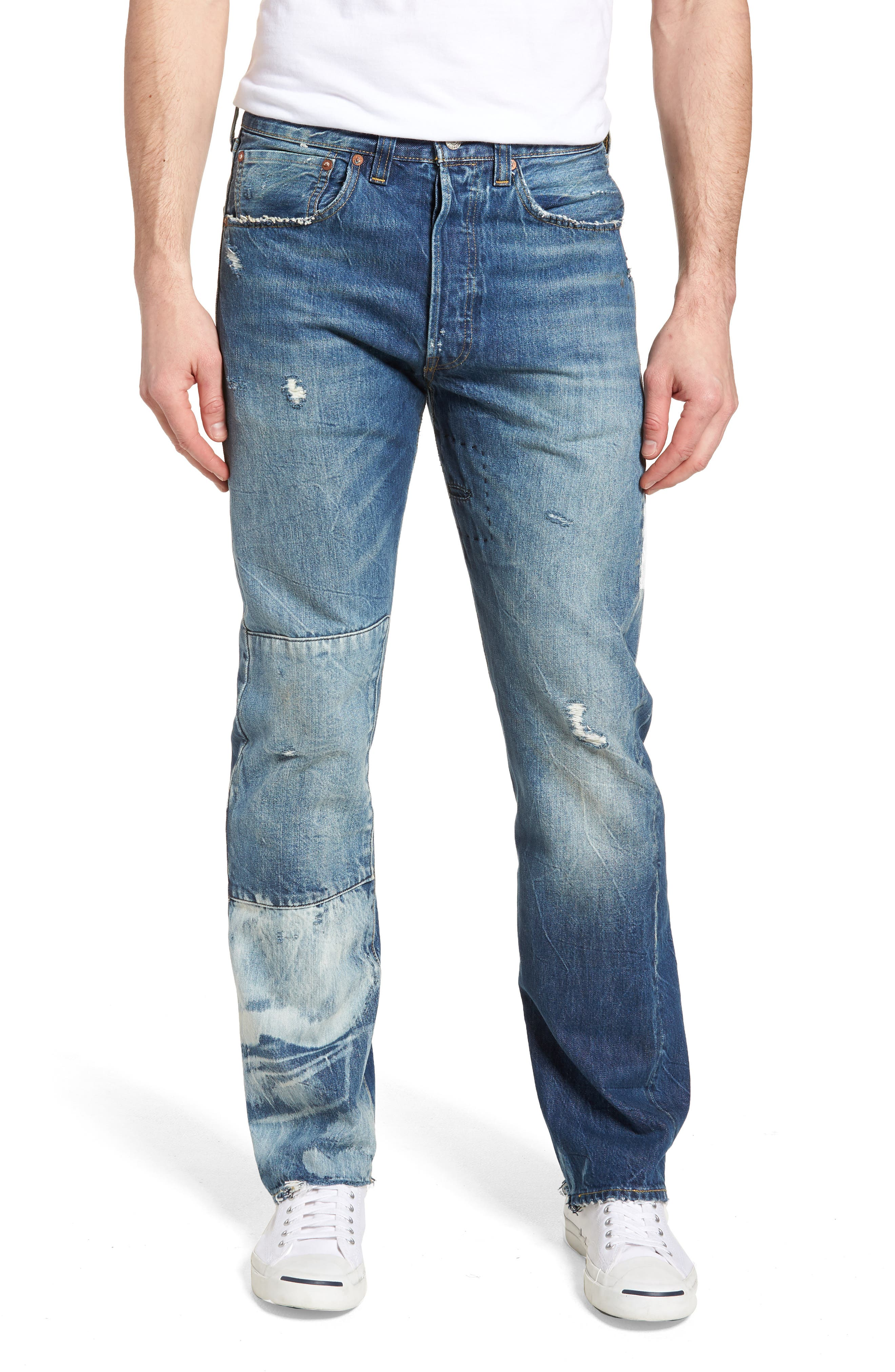 1947 501<sup>®</sup> Tapered Leg Jeans,                             Main thumbnail 1, color,                             451