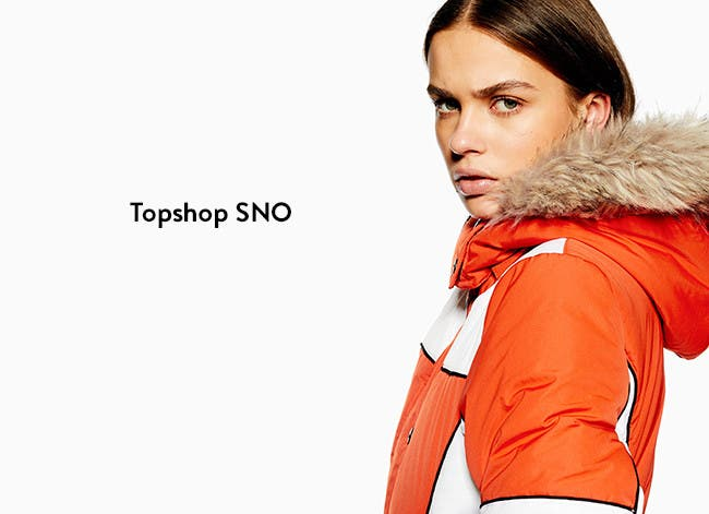 Topshop SNO for winter sports for women.