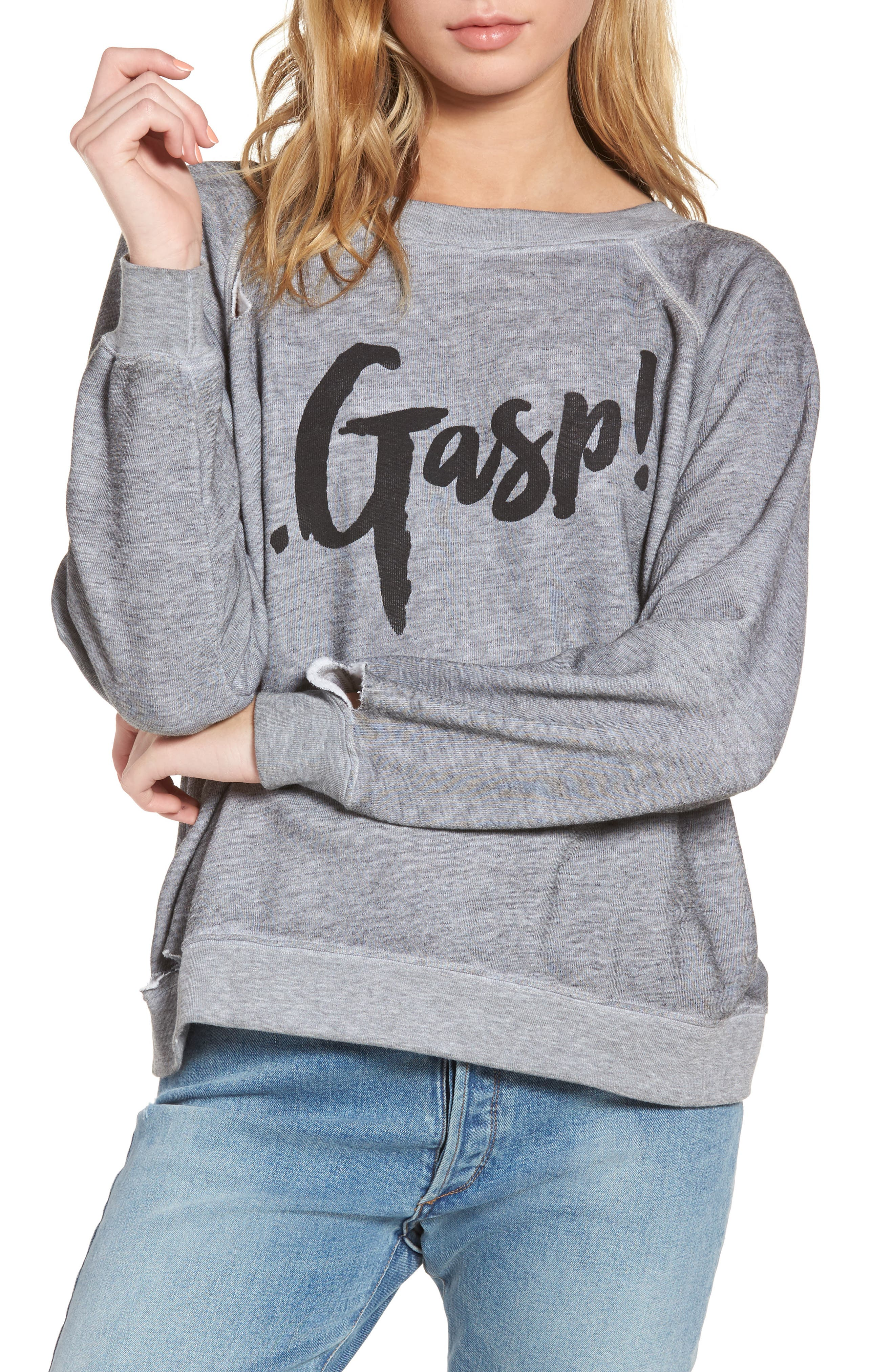 Gasp Thrashed Sommers Sweatshirt,                             Main thumbnail 1, color,                             020