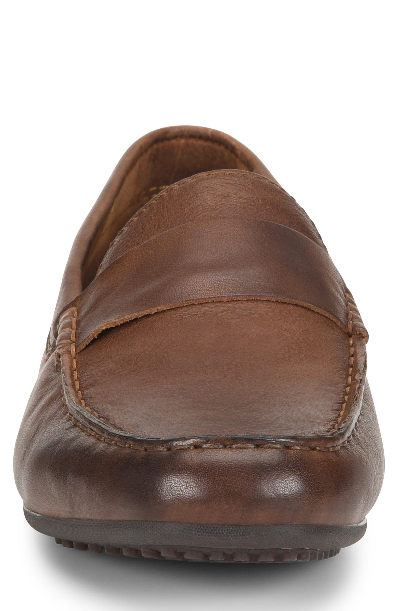 Ratner Driving Loafer,                             Alternate thumbnail 4, color,                             BROWN LEATHER