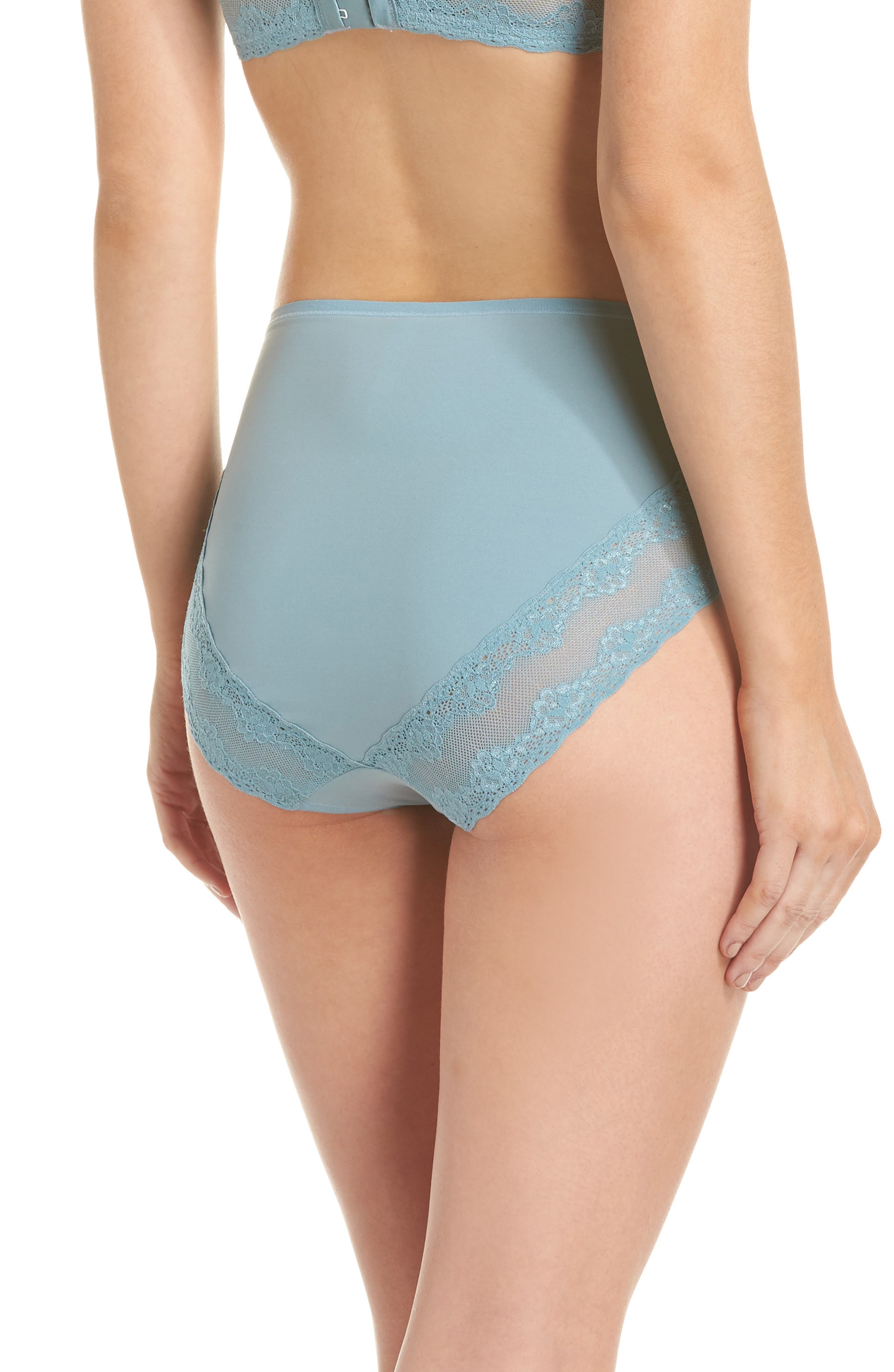 Bliss Perfection French Cut Briefs,                             Alternate thumbnail 2, color,                             SMOKE BLUE