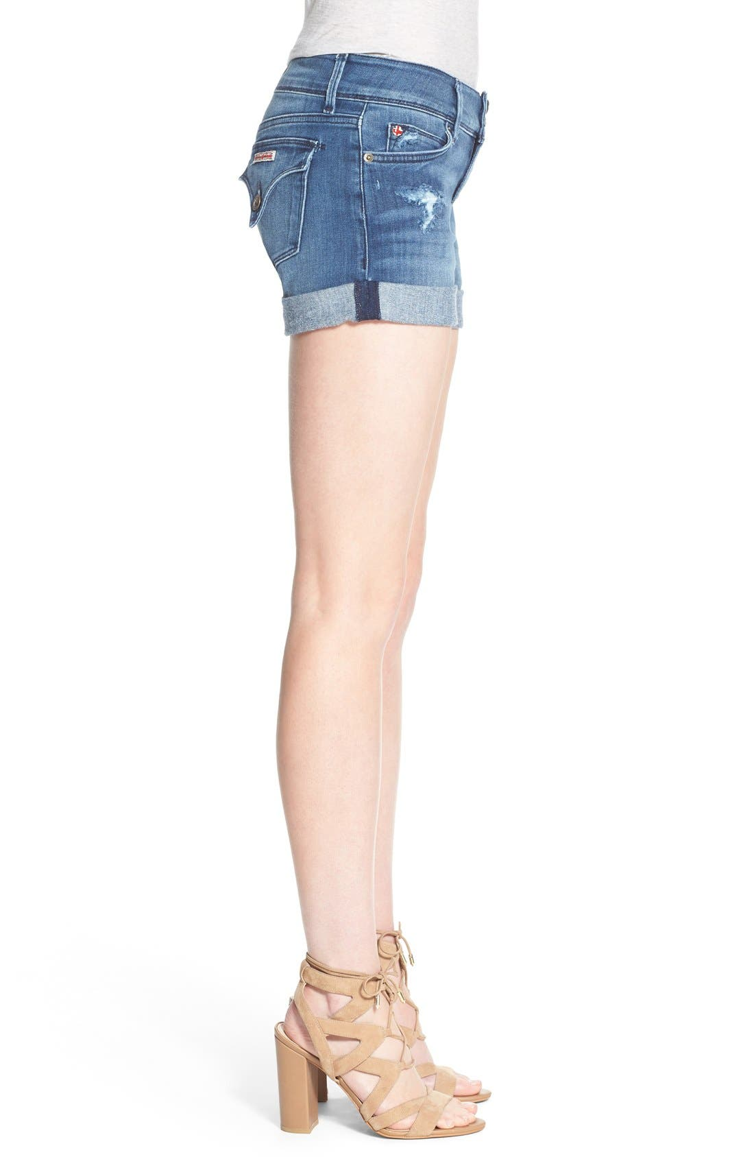 'Croxley' Cuffed Denim Shorts,                             Alternate thumbnail 13, color,