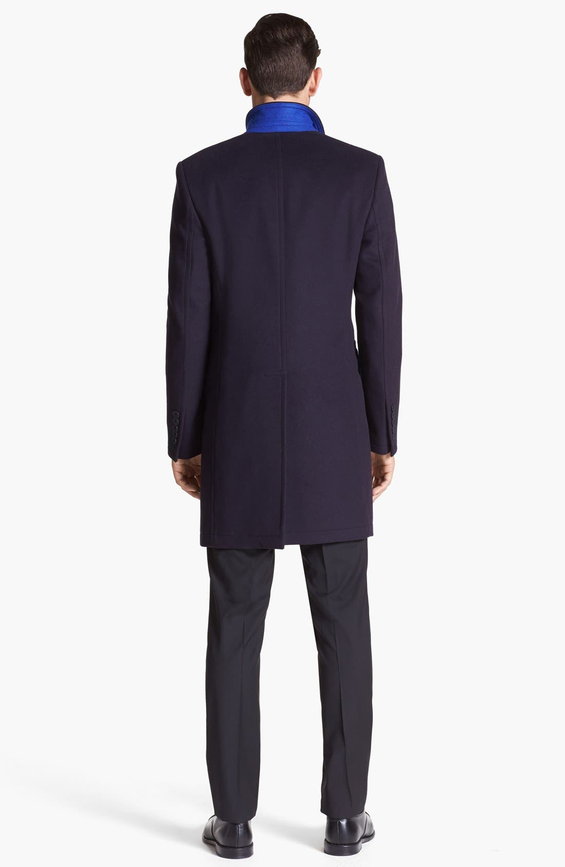 Tailored Wool Topcoat,                             Alternate thumbnail 4, color,                             414