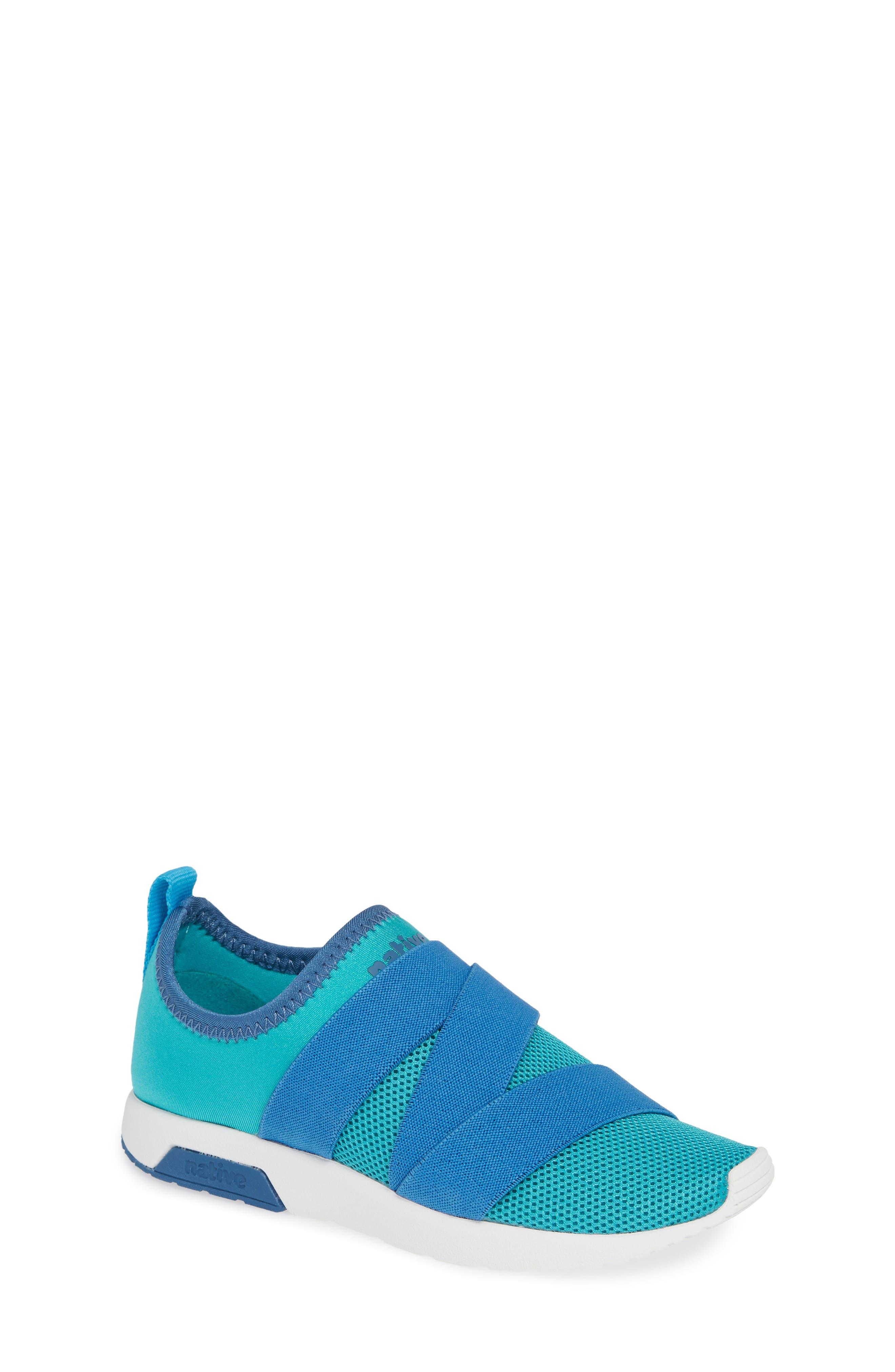 NATIVE SHOES,                             Phoenix Slip-On Vegan Sneaker,                             Main thumbnail 1, color,                             GLACIER GREEN/ BLUE/ WHITE
