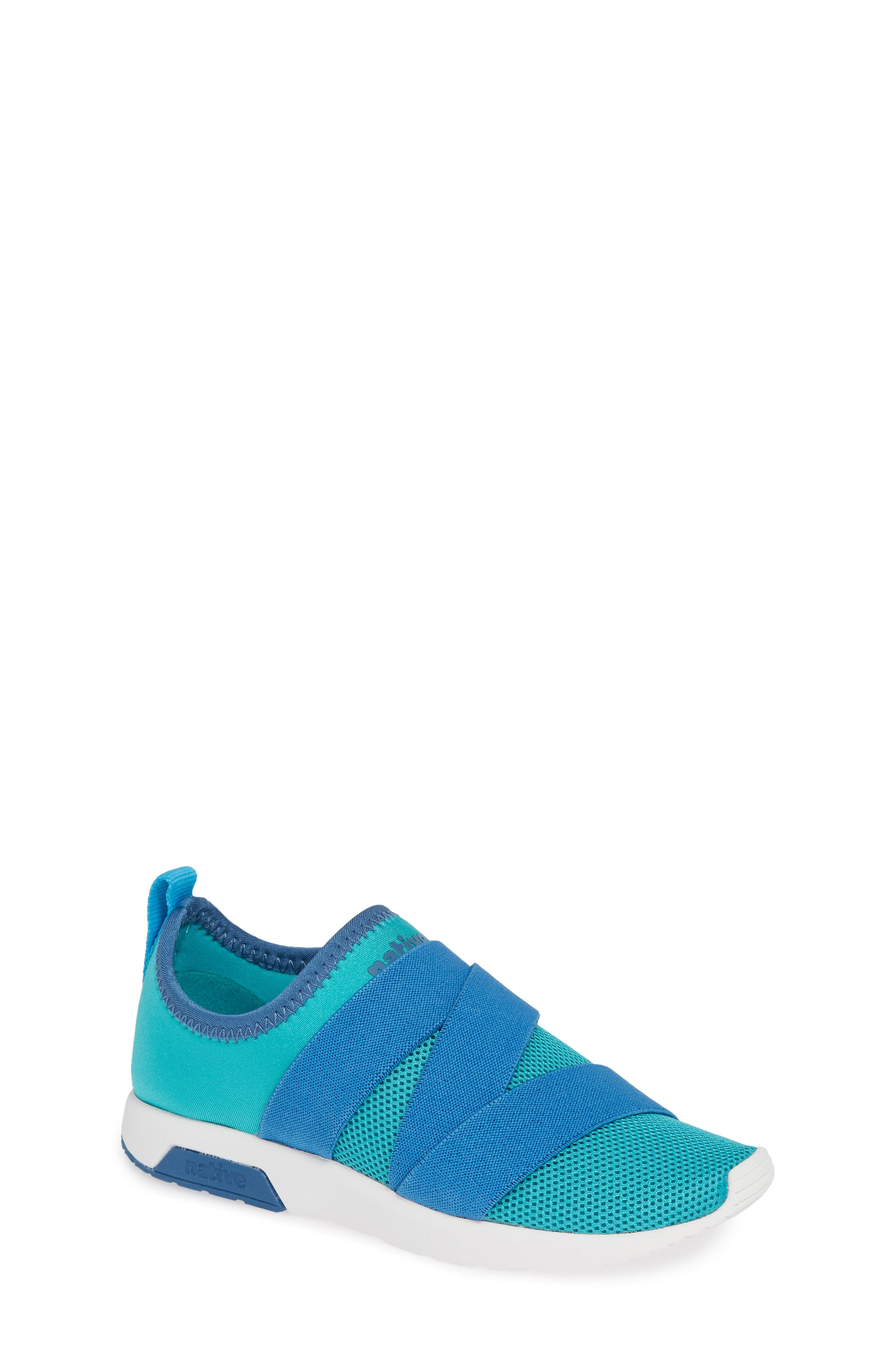 NATIVE SHOES Phoenix Slip-On Vegan Sneaker, Main, color, GLACIER GREEN/ BLUE/ WHITE