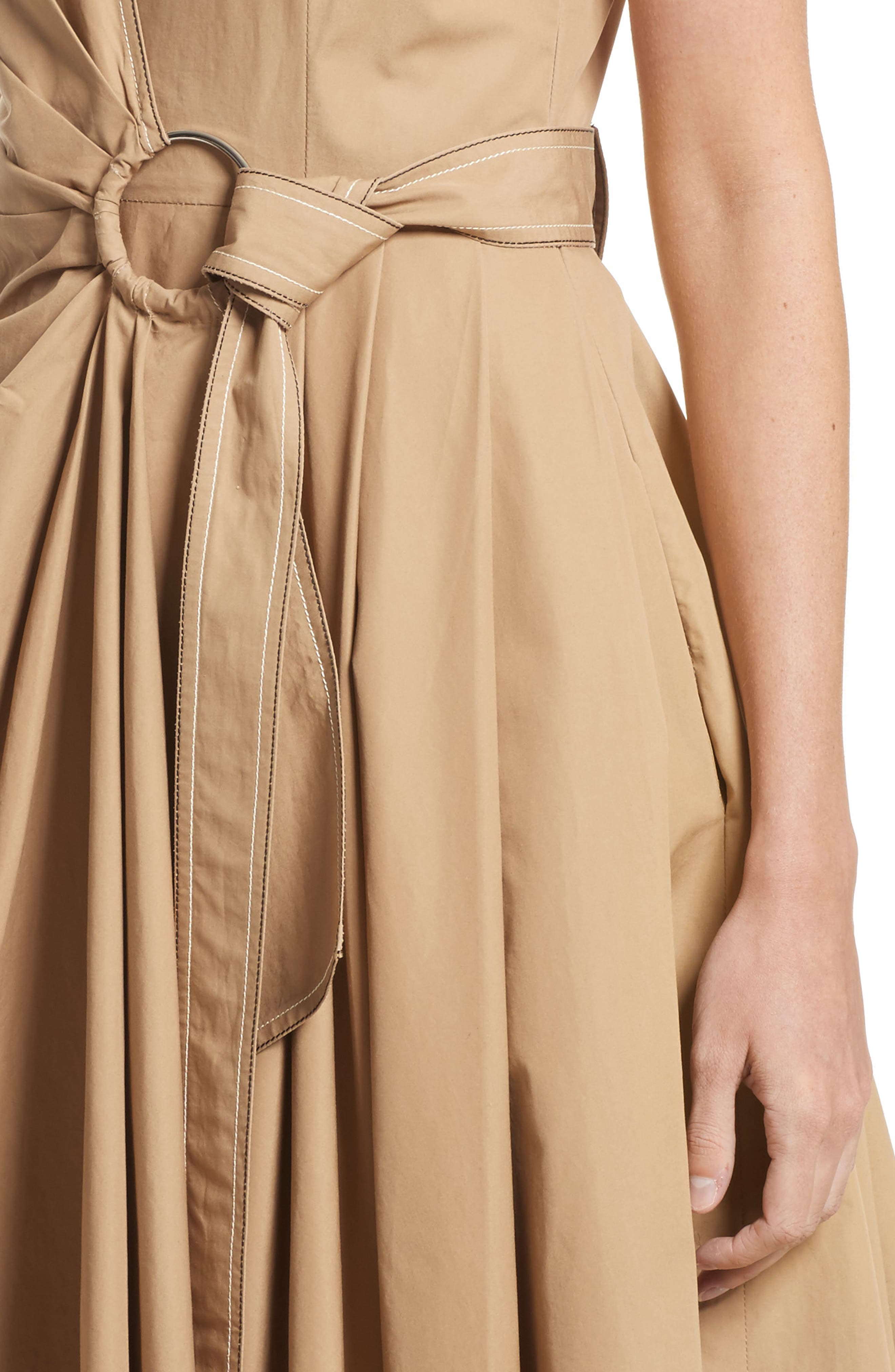 Pleated Wrap Dress,                             Alternate thumbnail 7, color,
