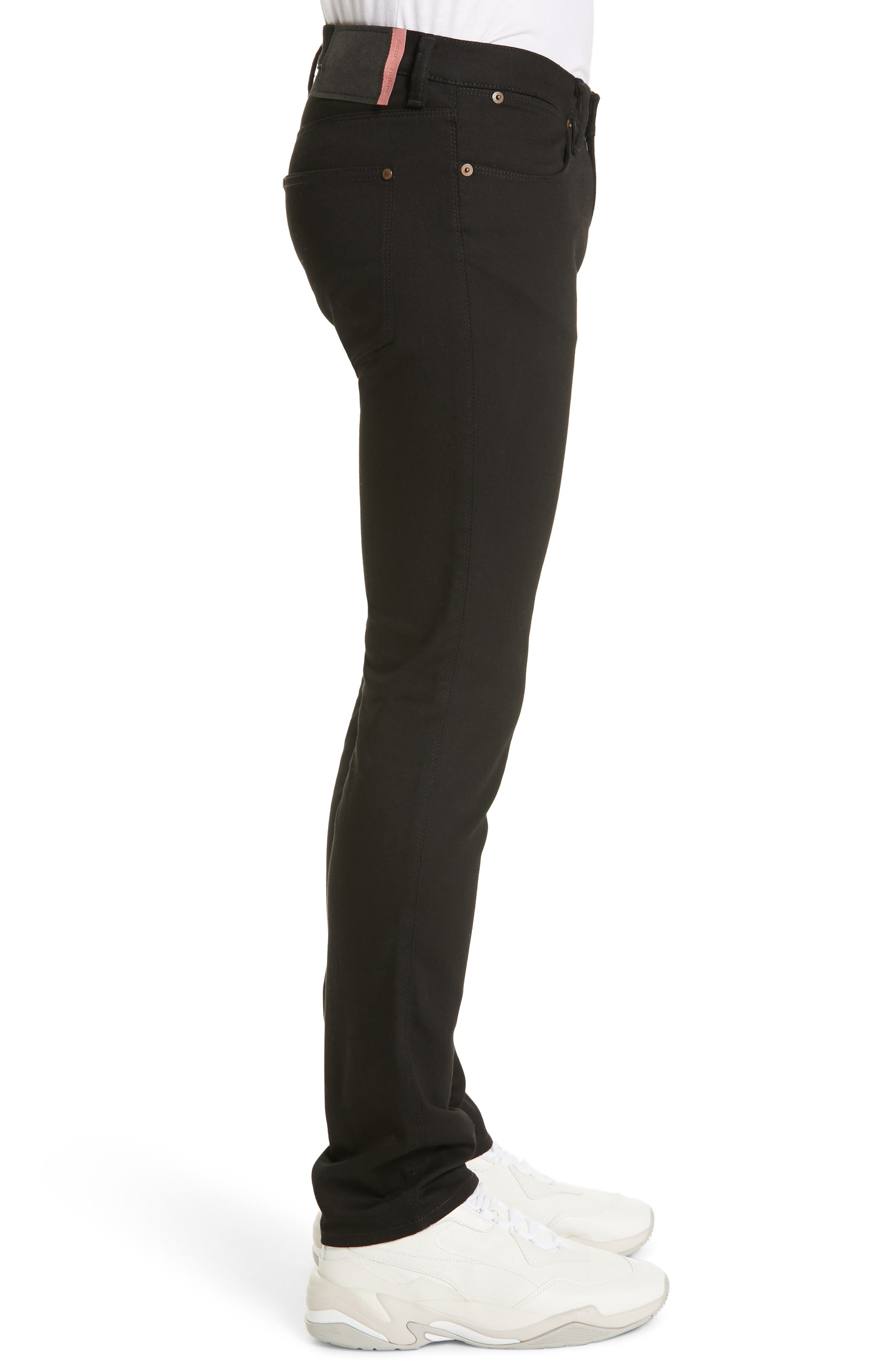 River Used Mamba Skinny Fit Jeans,                             Alternate thumbnail 3, color,                             BLACK