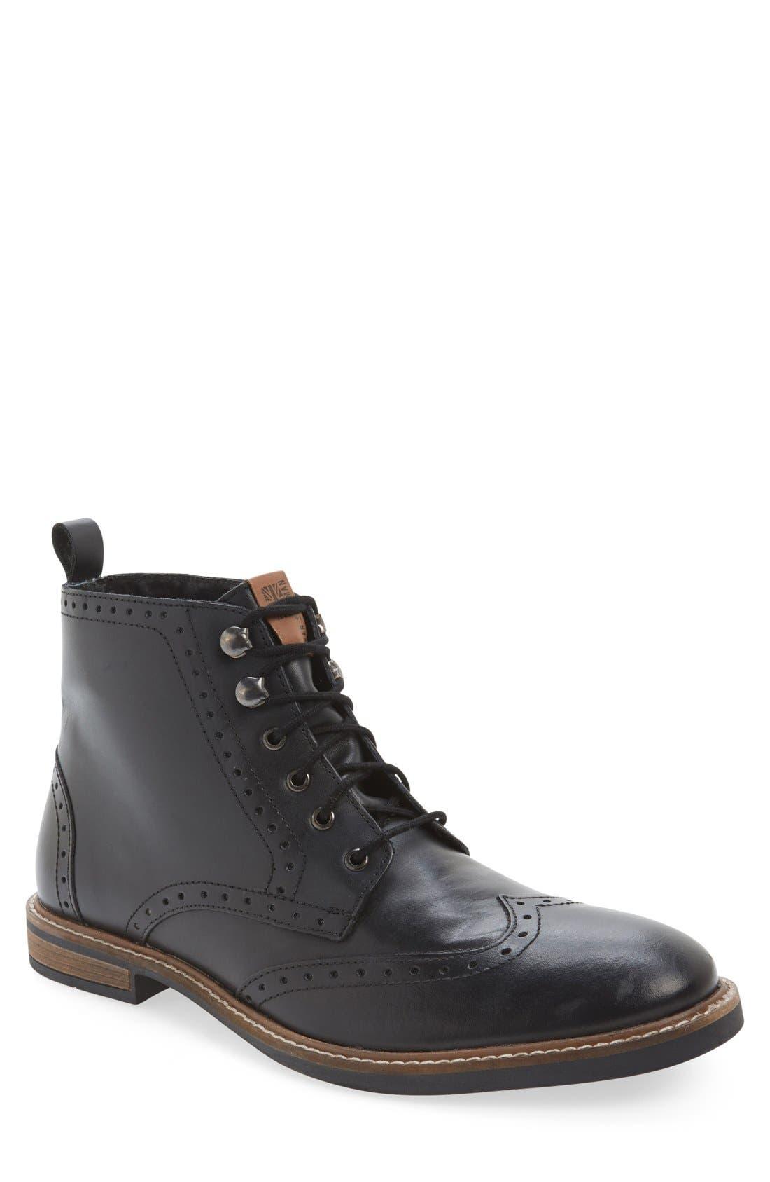 'Birk' Wingtip Boot, Main, color, 001
