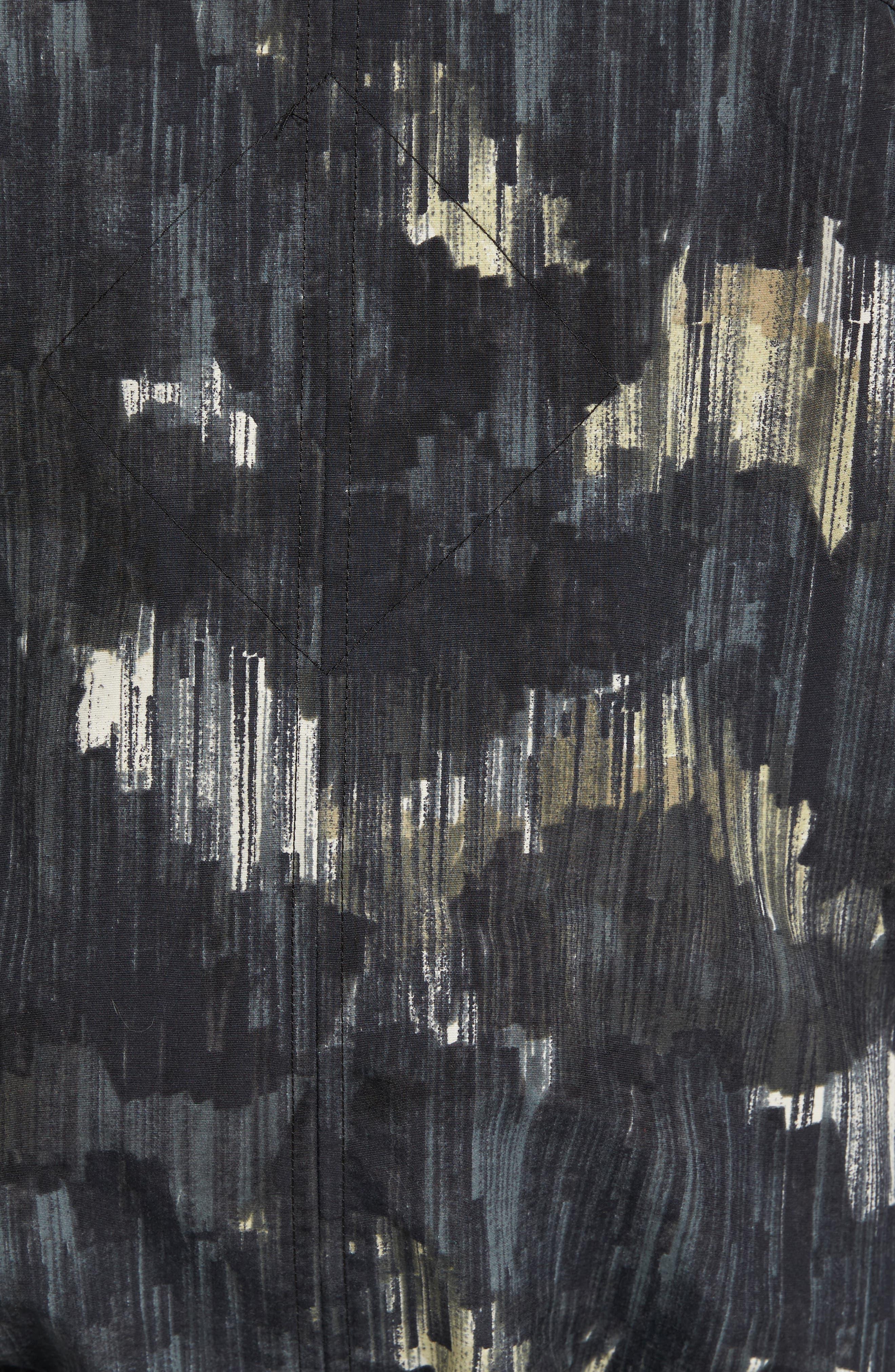 Faber Slim Fit Bomber Jacket,                             Alternate thumbnail 5, color,                             NOCTURNE PRINT