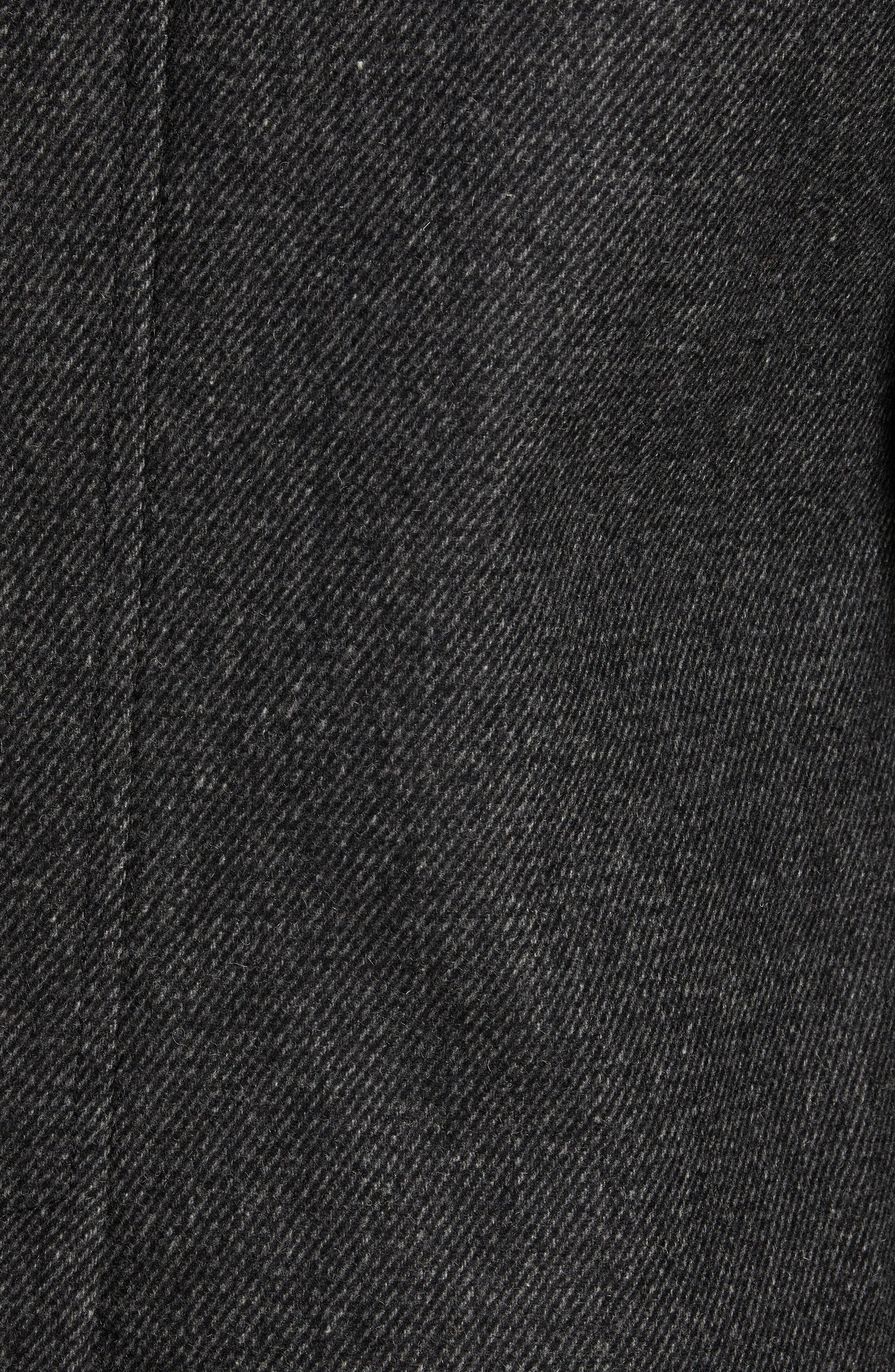 Grilled Wool Blend Peacoat,                             Alternate thumbnail 7, color,                             GREY
