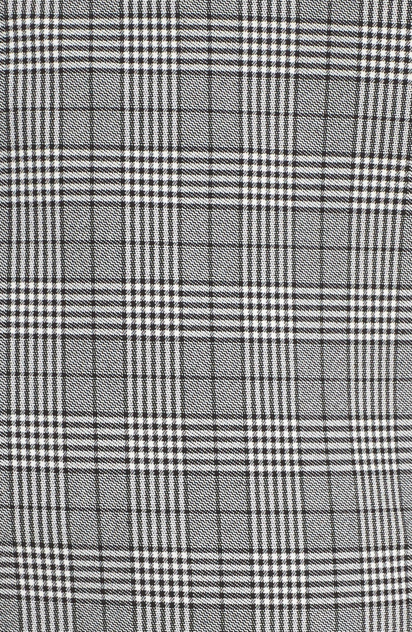 Menswear Crop Pants,                             Alternate thumbnail 5, color,                             HEATHER GREY COMBO