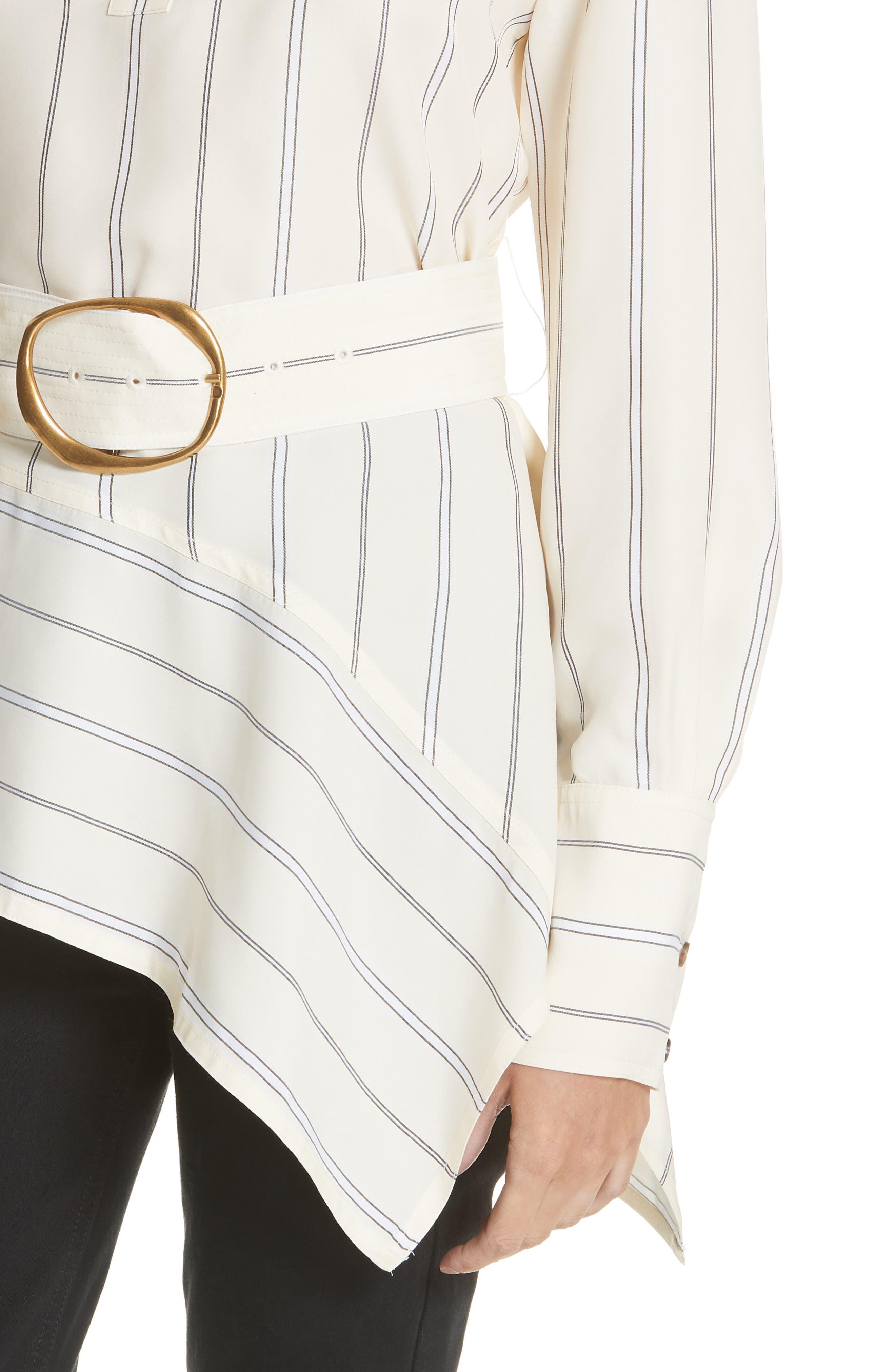 Asymmetrical Stripe Shirt,                             Alternate thumbnail 4, color,