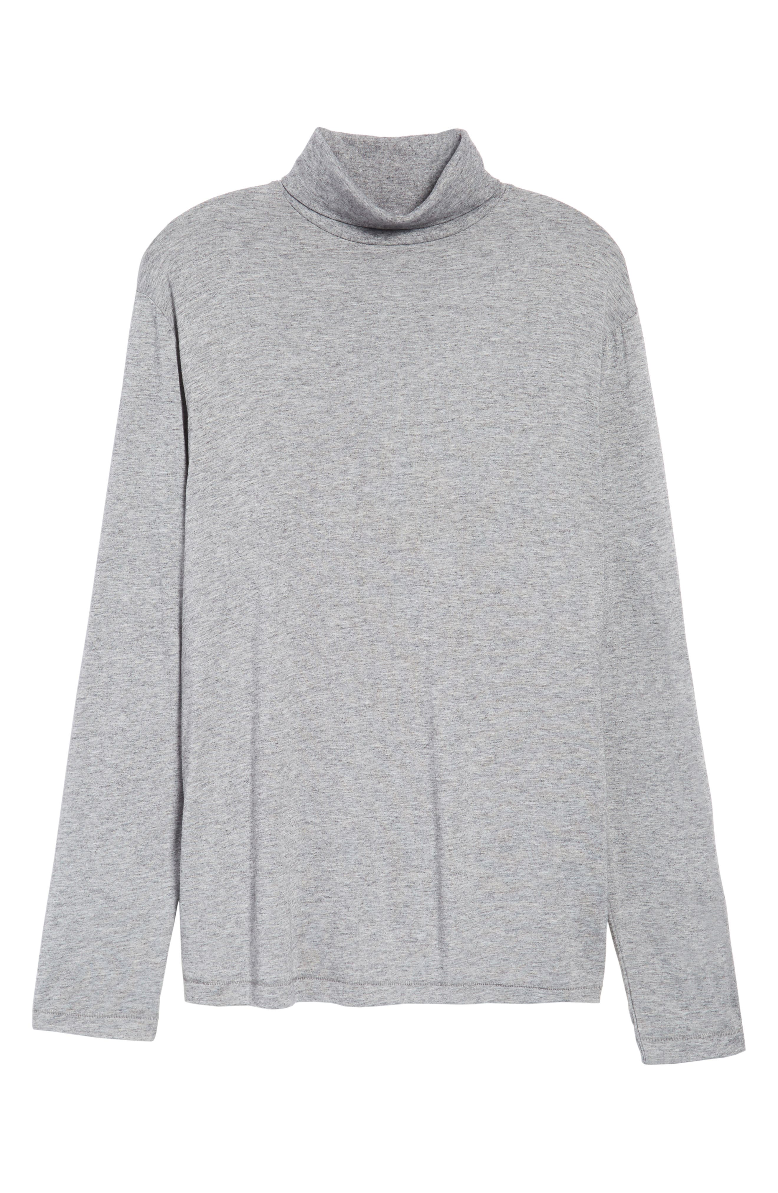 Lightweight Turtleneck Sweater,                             Alternate thumbnail 6, color,