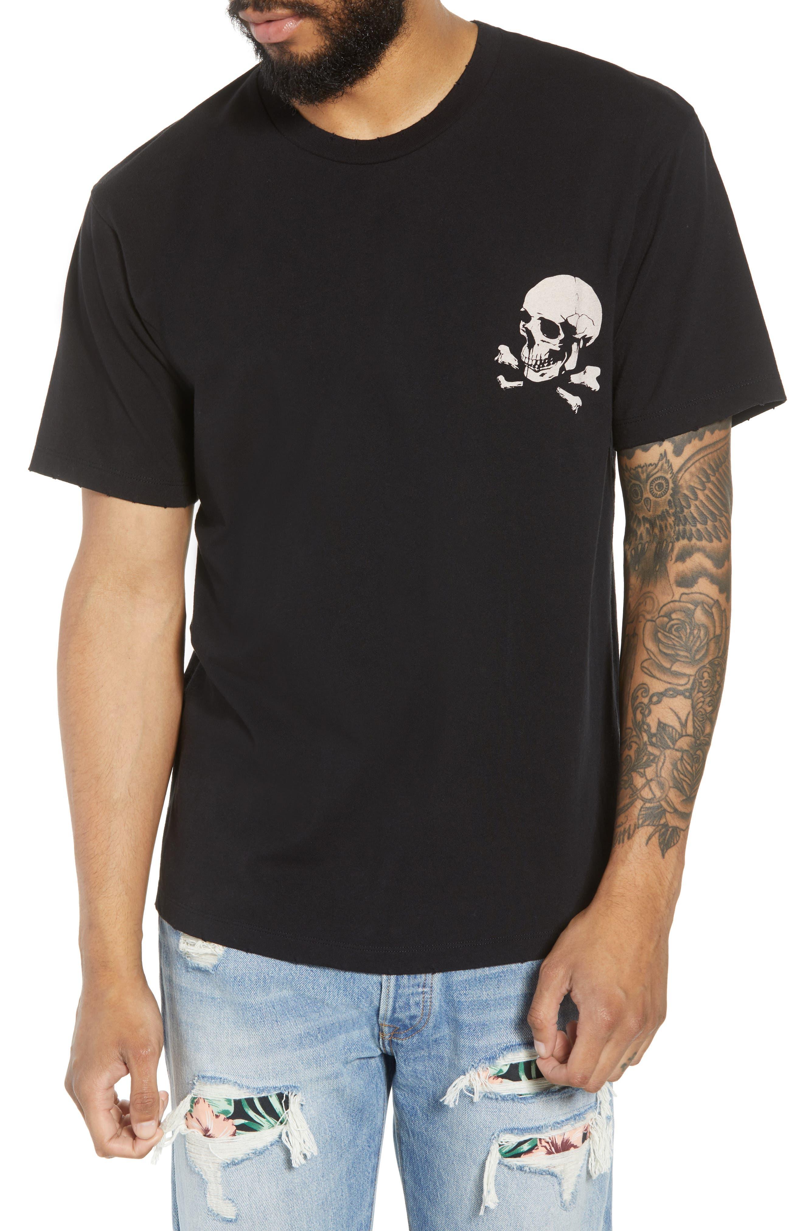 Regular Fit Skullhead Graphic T-Shirt, Main, color, 001
