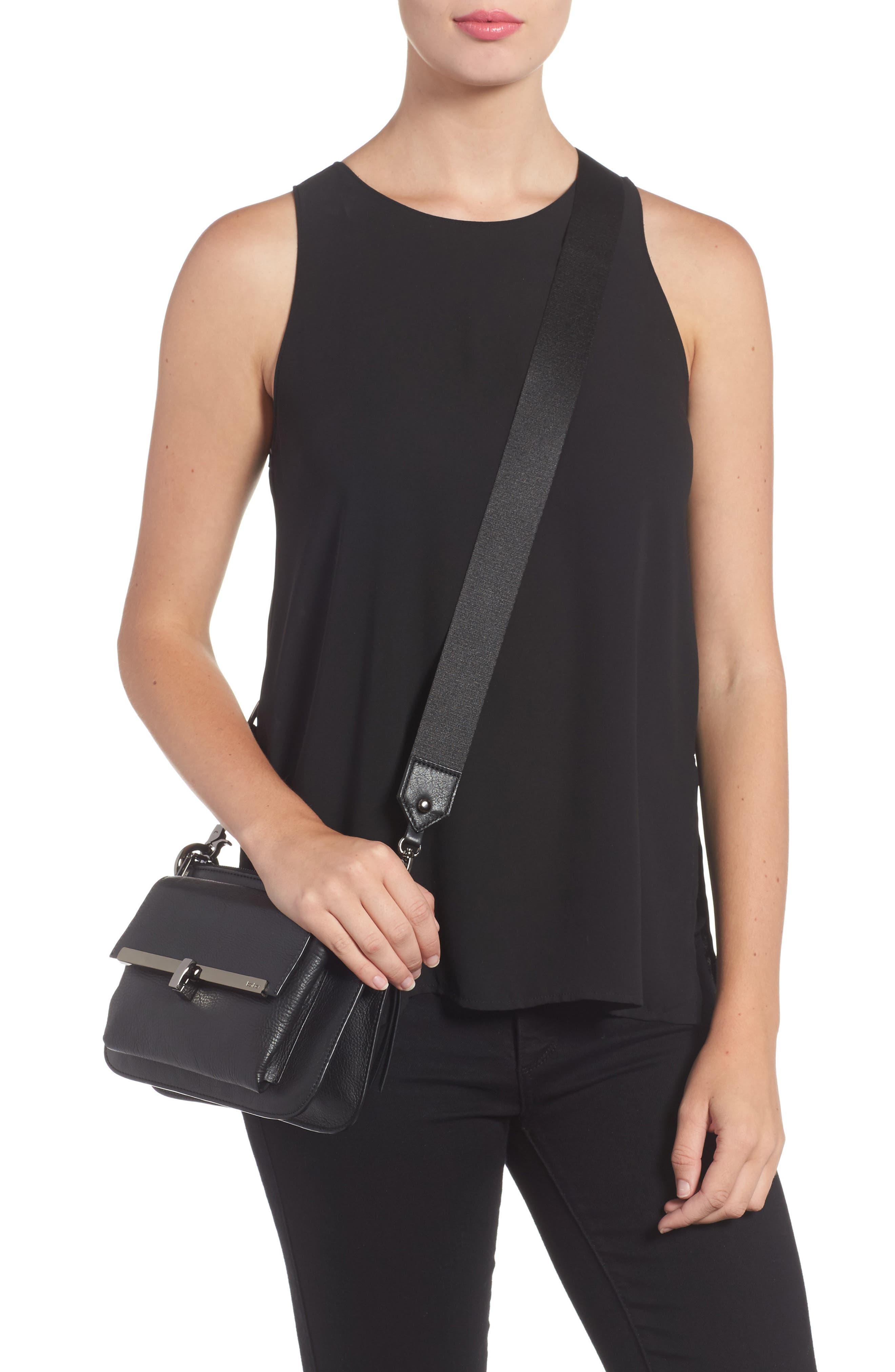 Bleeker Leather Double Shoulder Bag,                             Alternate thumbnail 7, color,