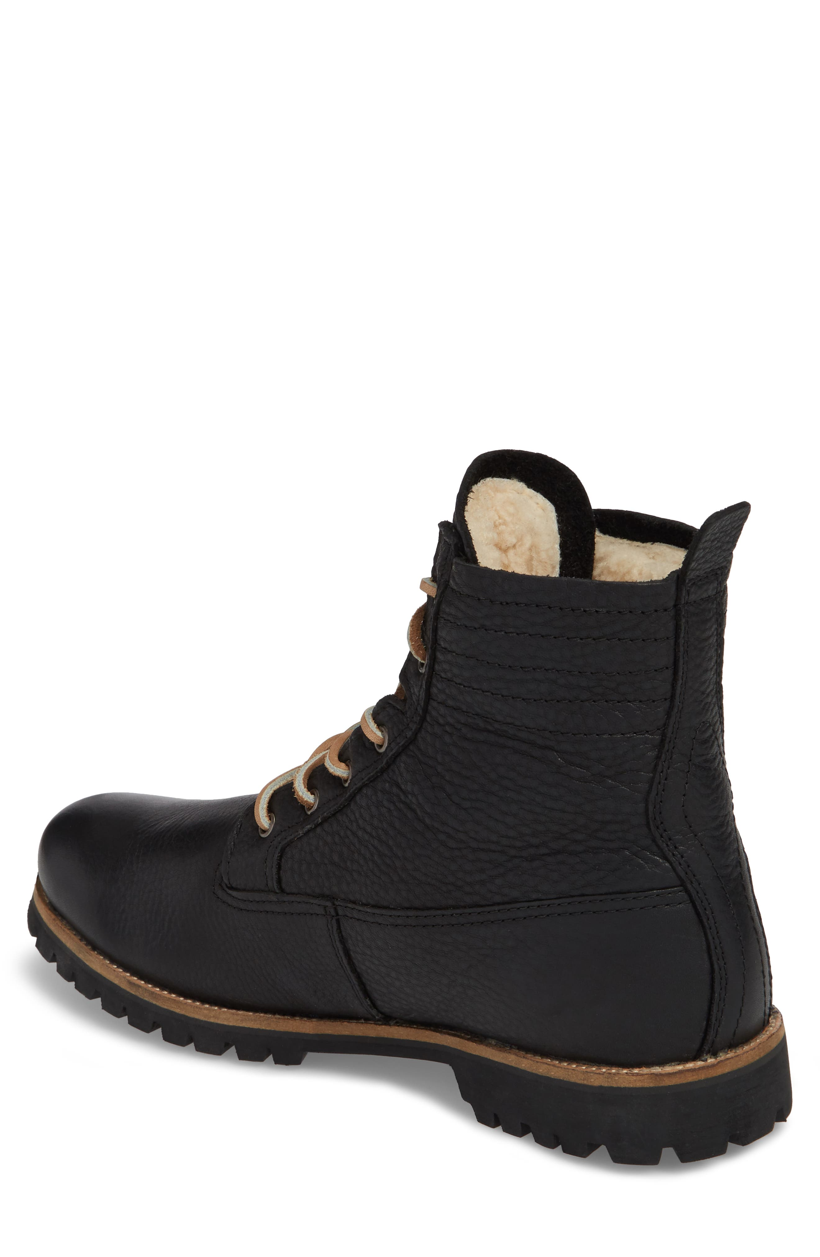 IM 12 Plain Toe Boot with Genuine Shearling,                             Alternate thumbnail 2, color,                             001