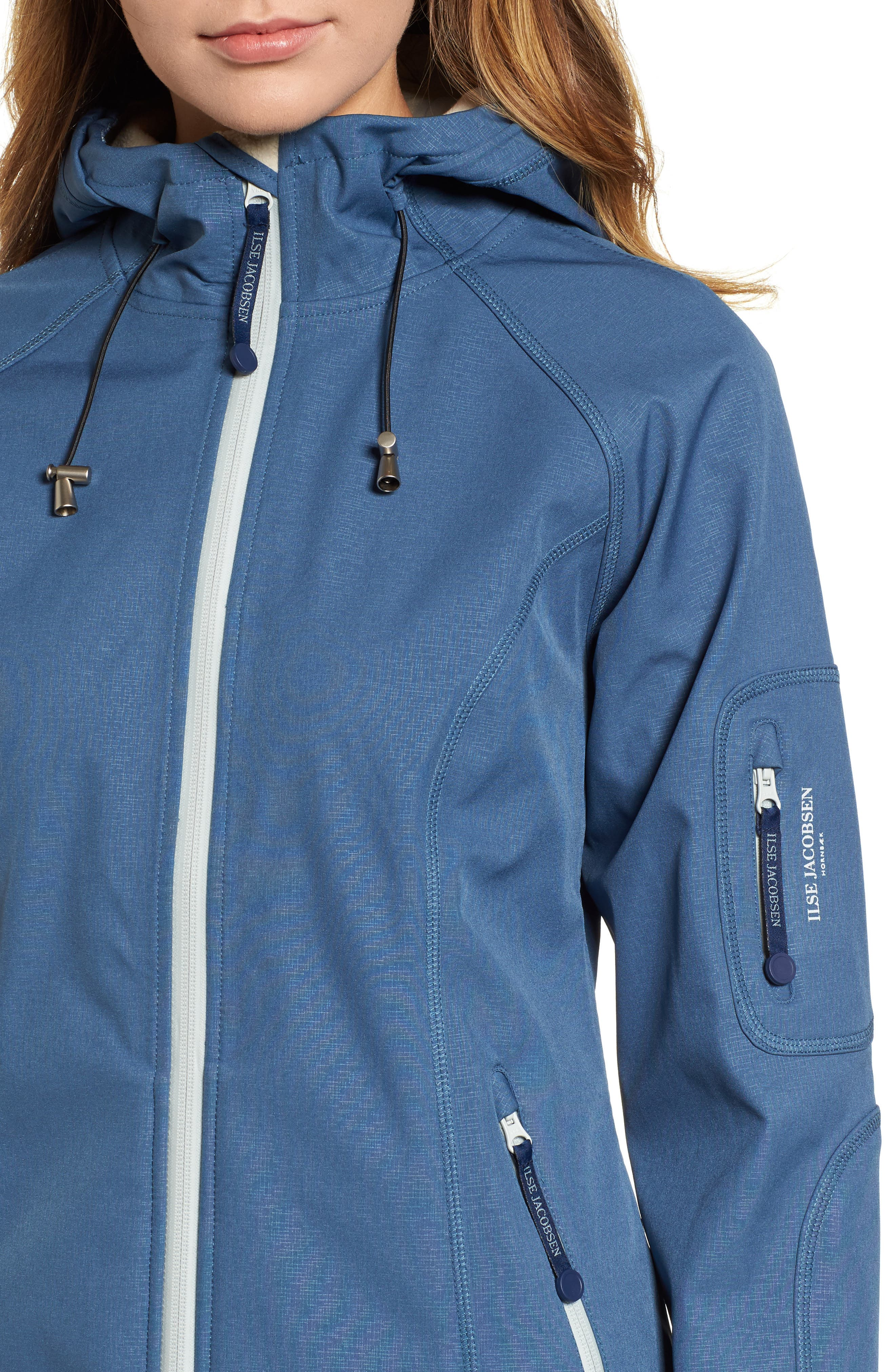 Regular Fit Hooded Raincoat,                             Alternate thumbnail 4, color,                             400