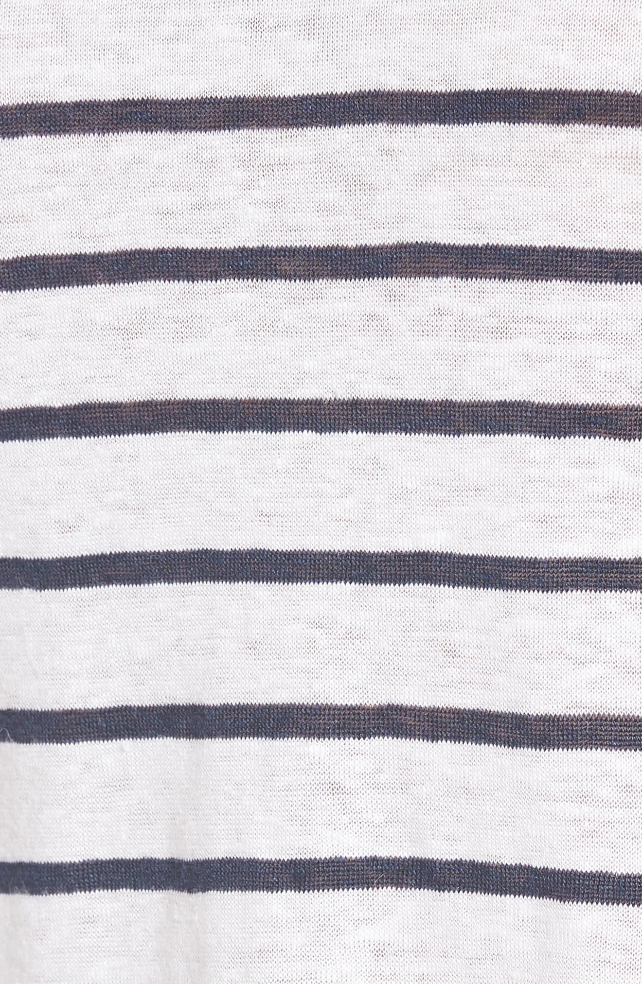 Cannon Stripe Linen Top,                             Alternate thumbnail 6, color,                             401