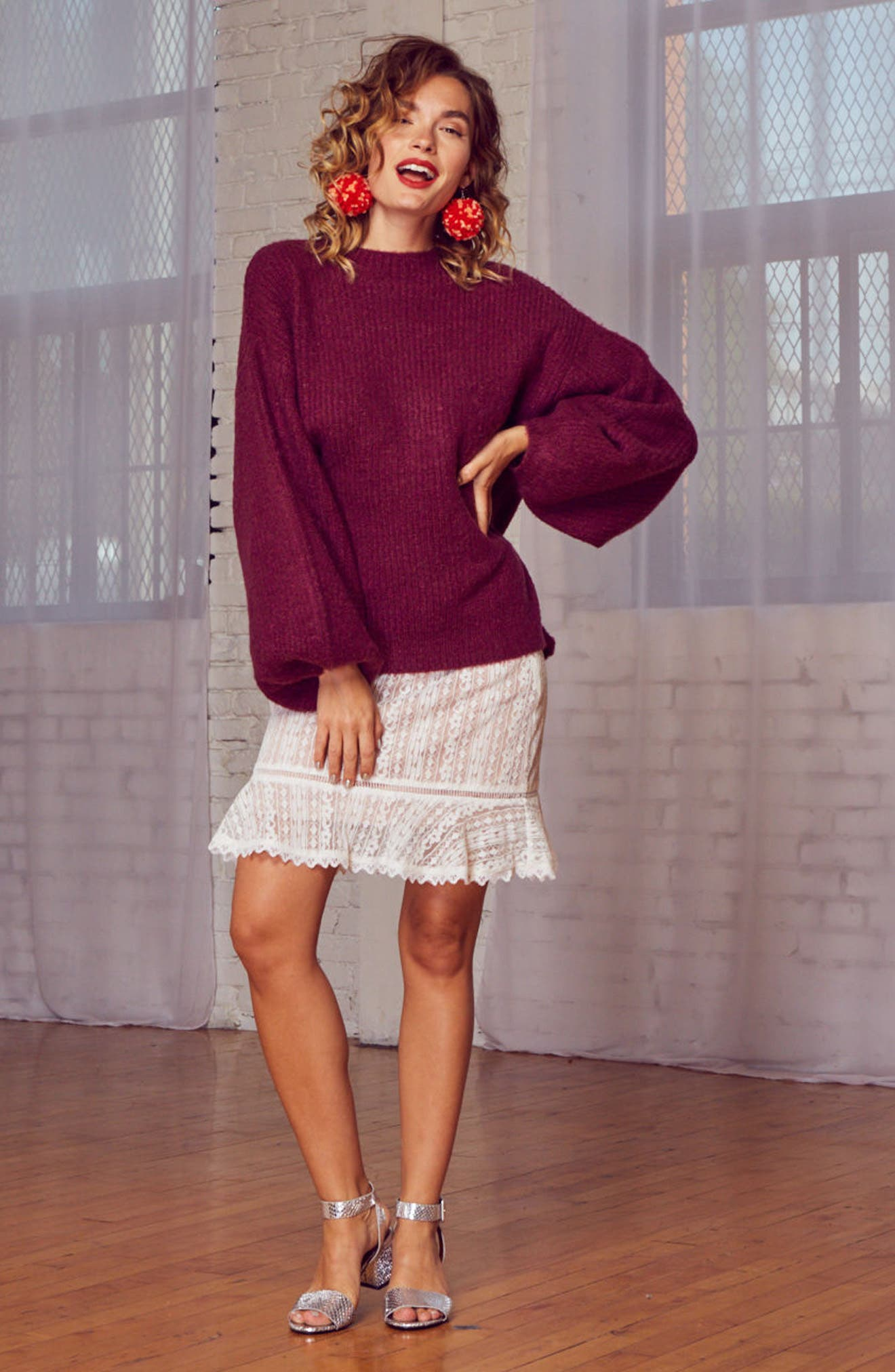 Cabernet Sweater,                             Alternate thumbnail 7, color,