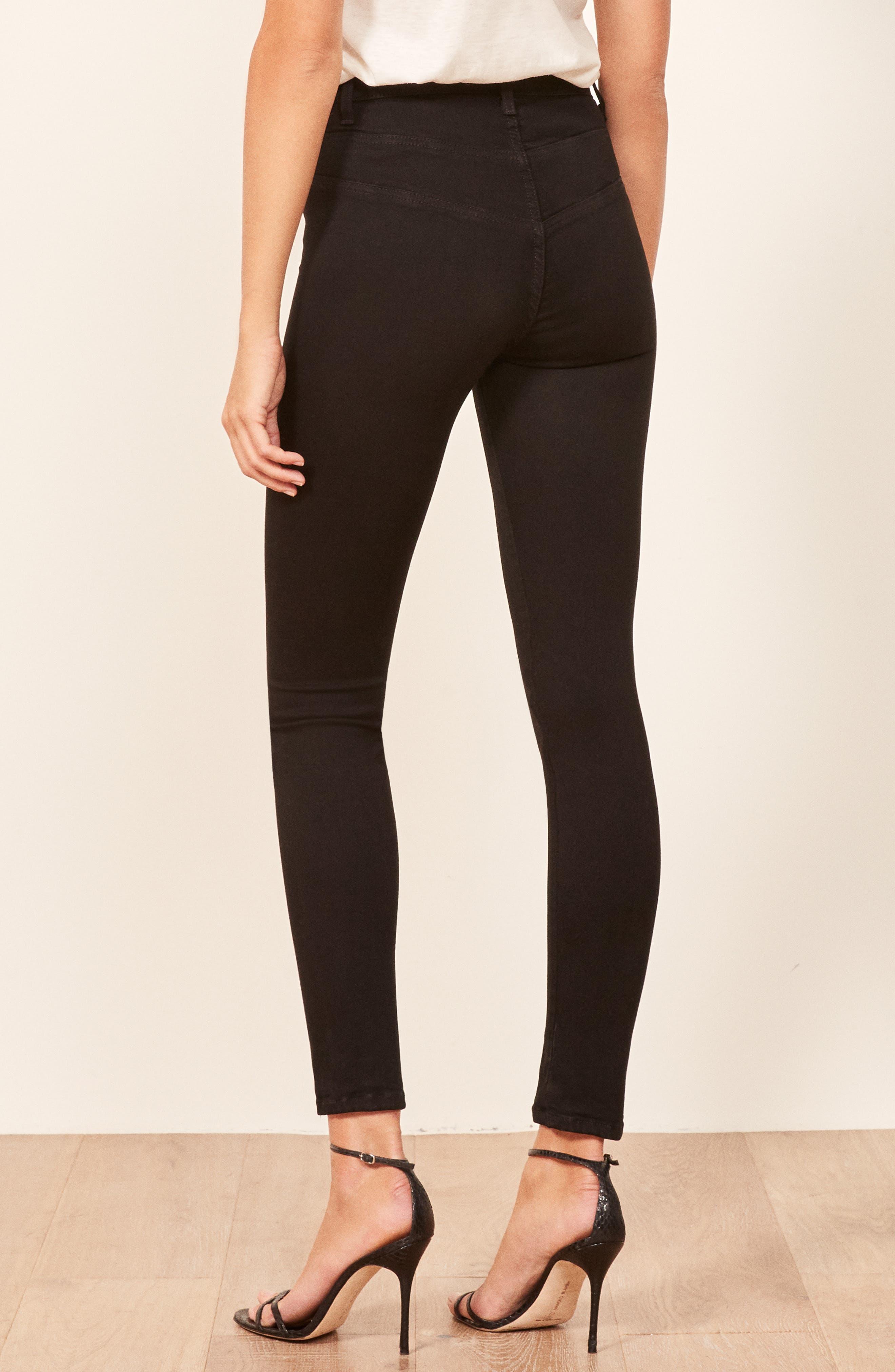 Suzie Skinny Jeans,                             Alternate thumbnail 3, color,                             BLACK