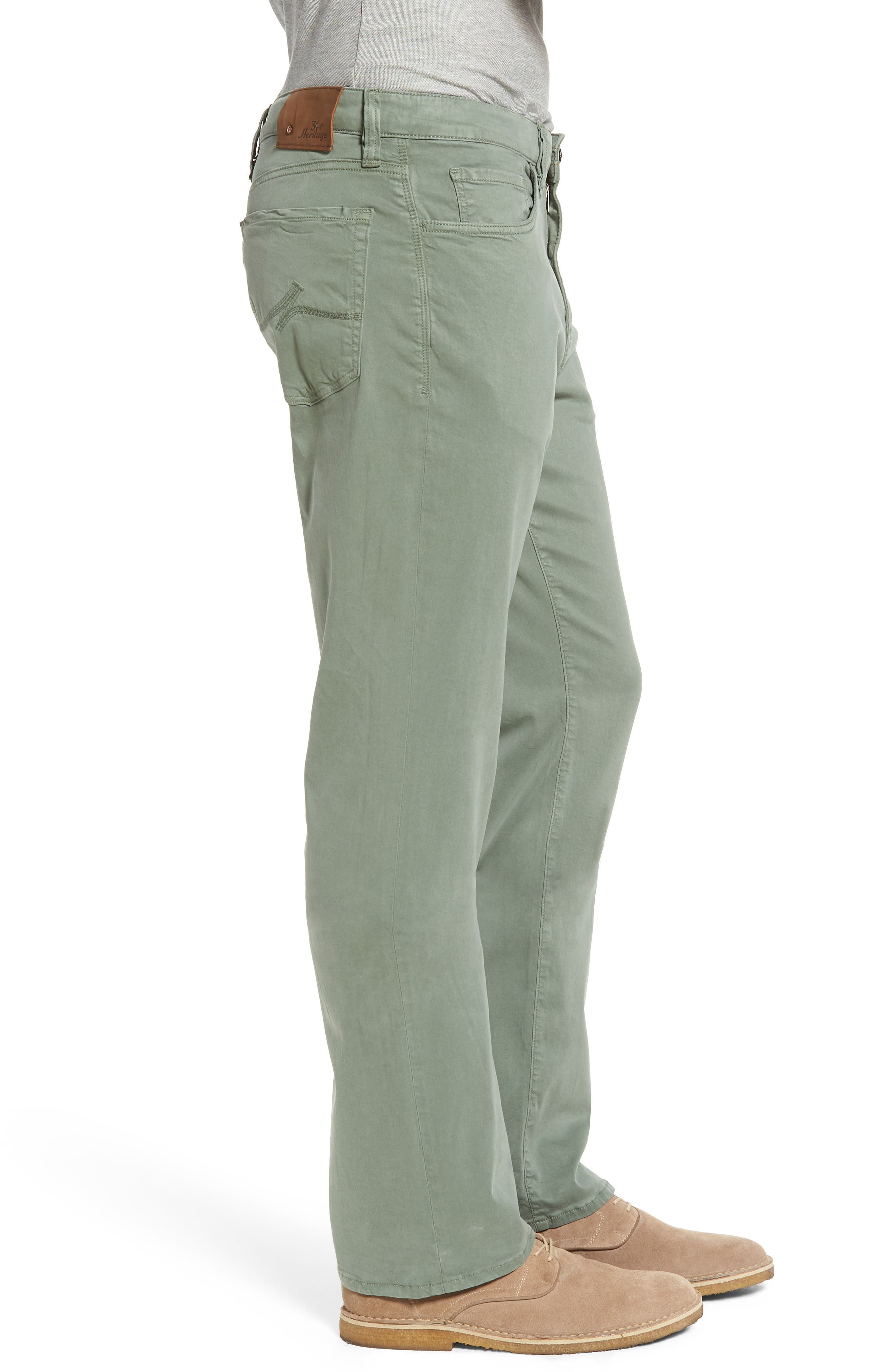 34 HERITAGE,                             Charisma Relaxed Fit Twill Pants,                             Alternate thumbnail 3, color,                             MOSS TWILL