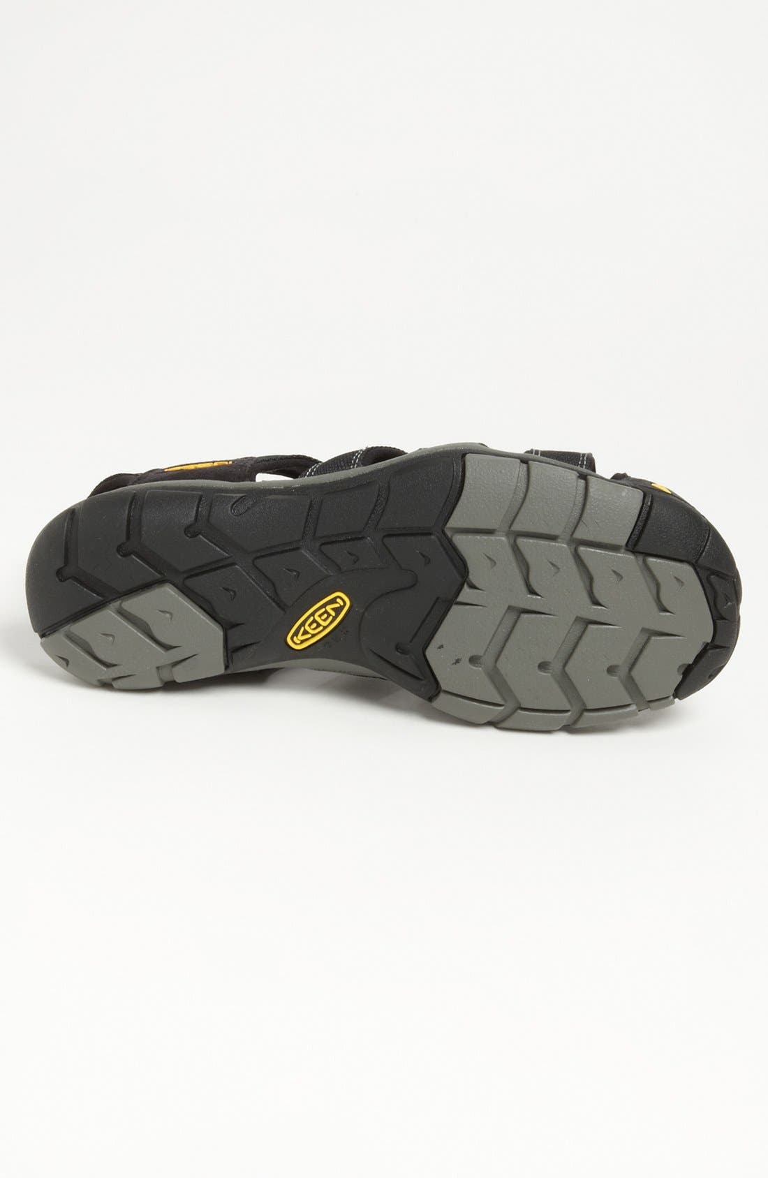 'Clearwater CNX' Sandal,                             Alternate thumbnail 3, color,                             BLACK/ GARGOYLE