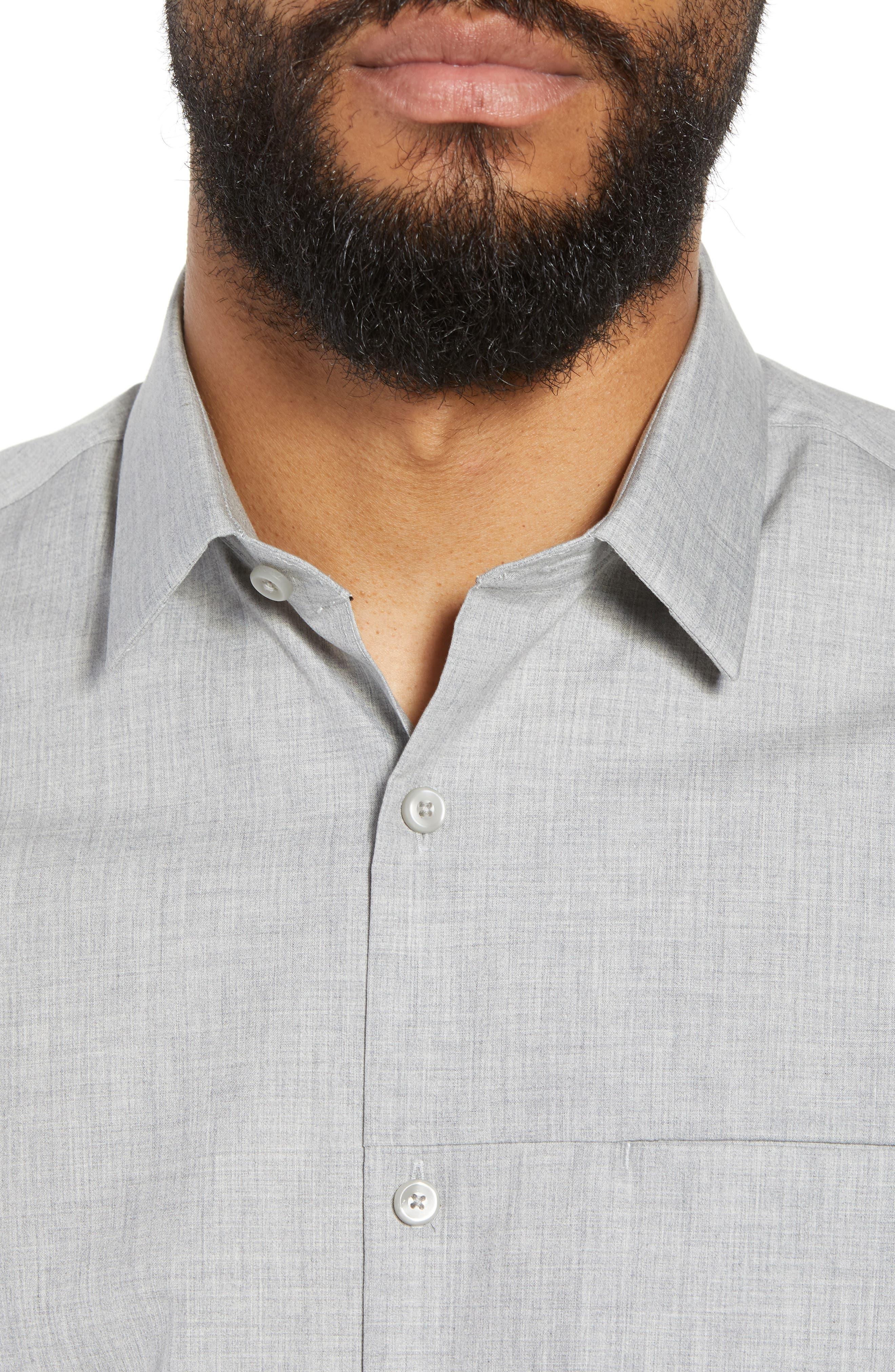 Trim Fit Slash Pocket Sport Shirt,                             Alternate thumbnail 4, color,                             050