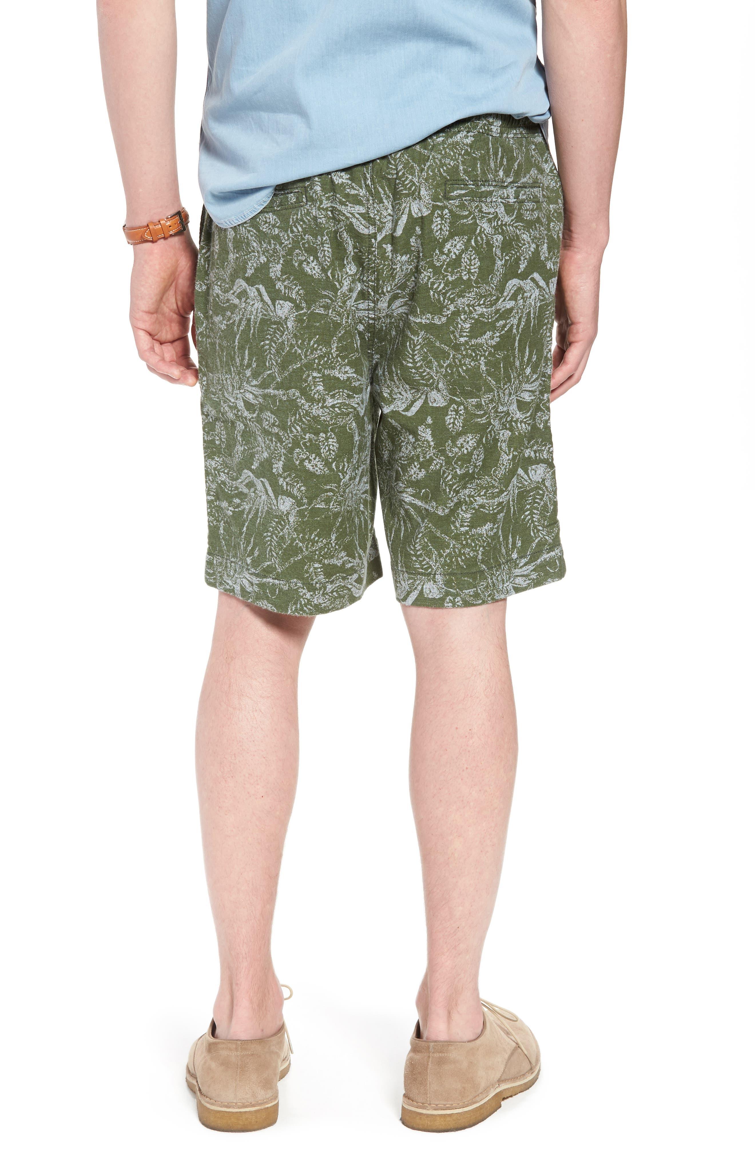 E-Waist Print Linen Blend Shorts,                             Alternate thumbnail 2, color,                             310