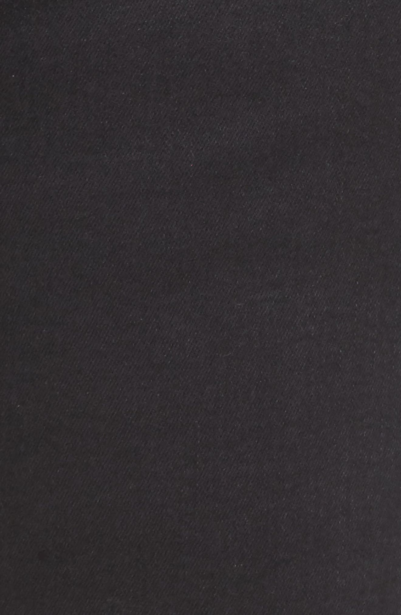 SEVEN7,                             Distressed Slant Raw Hem Skinny Jeans,                             Alternate thumbnail 5, color,                             001