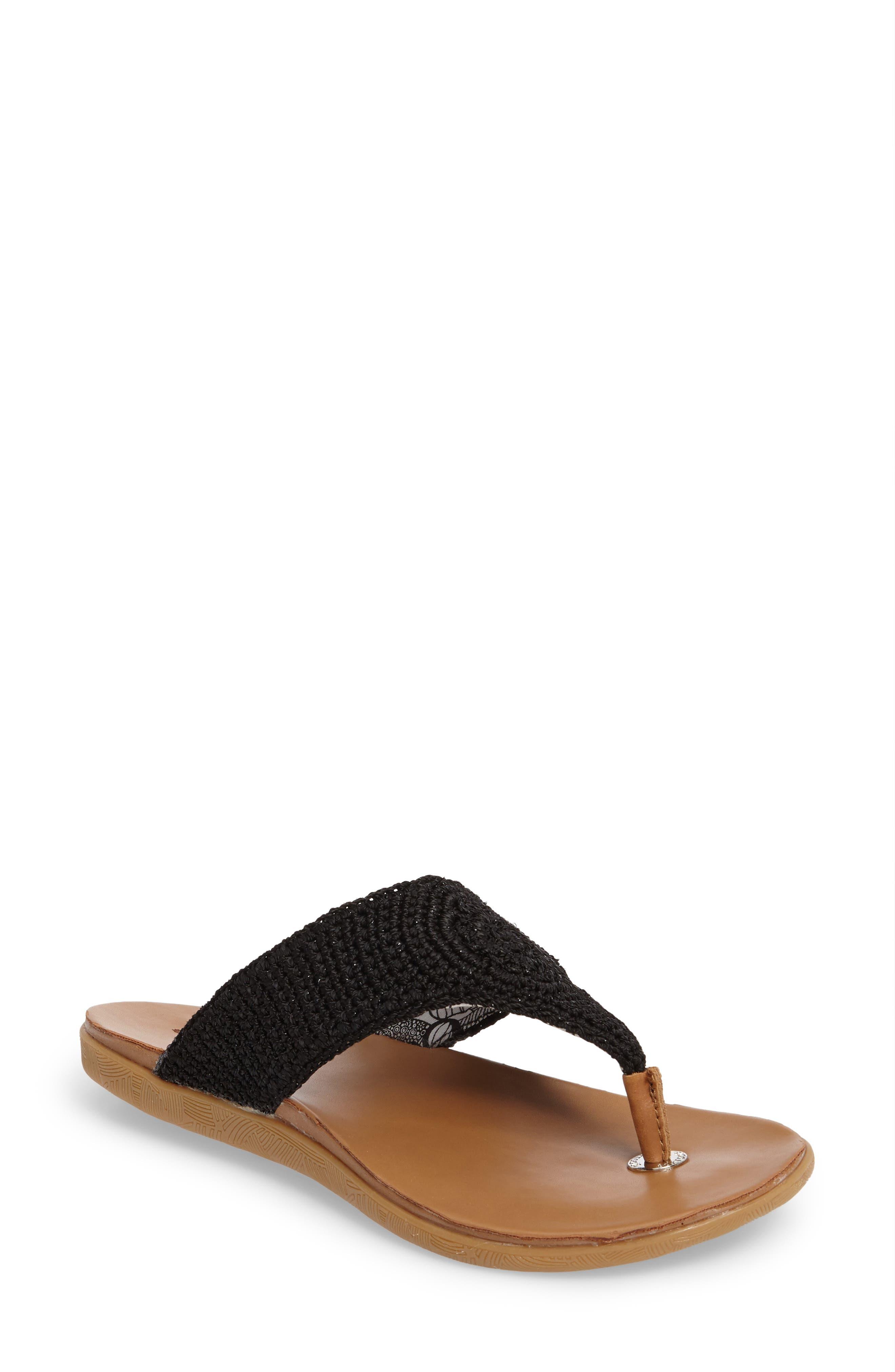 Sarria Flip Flop,                         Main,                         color, BLACK SPARKLE FABRIC
