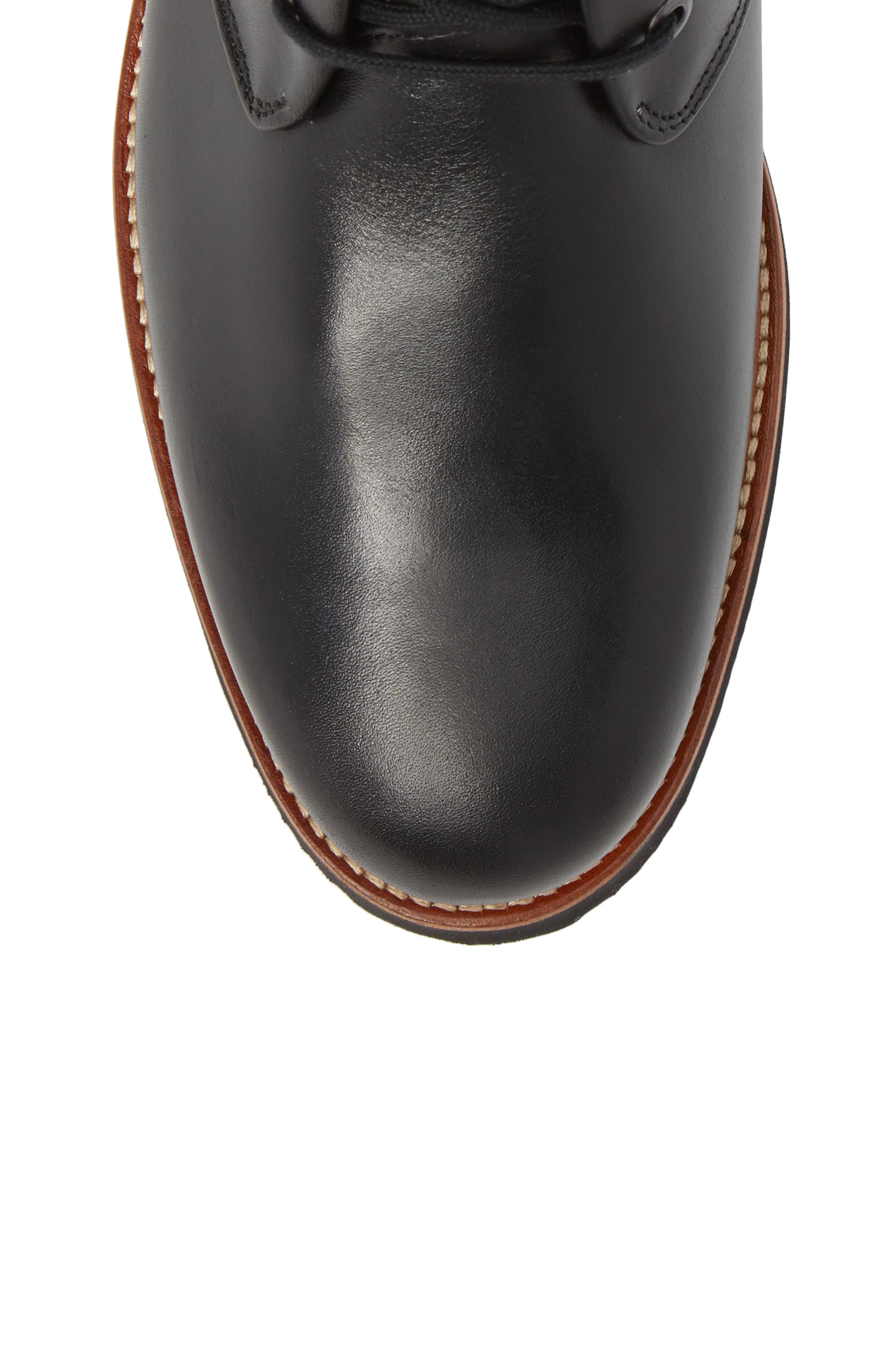 Re-Boot Waterproof Gore-Tex<sup>®</sup> Chukka Boot,                             Alternate thumbnail 5, color,                             BLACK LEATHER