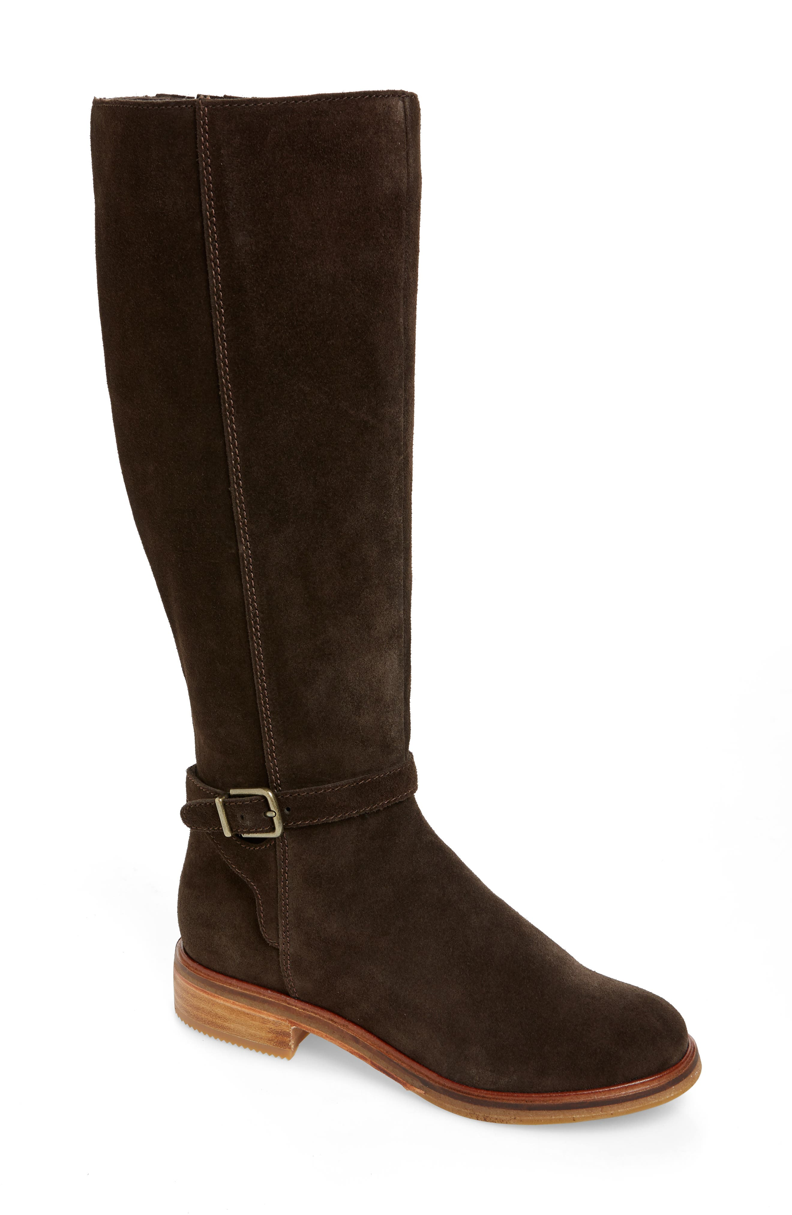 Clarkdale Clad Boot,                             Main thumbnail 1, color,                             BROWN SUEDE