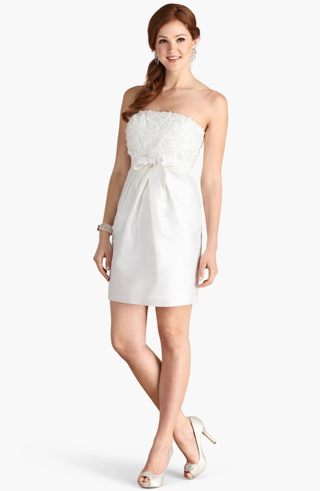 'Gemma' Strapless Rosette Dress,                             Alternate thumbnail 2, color,                             900