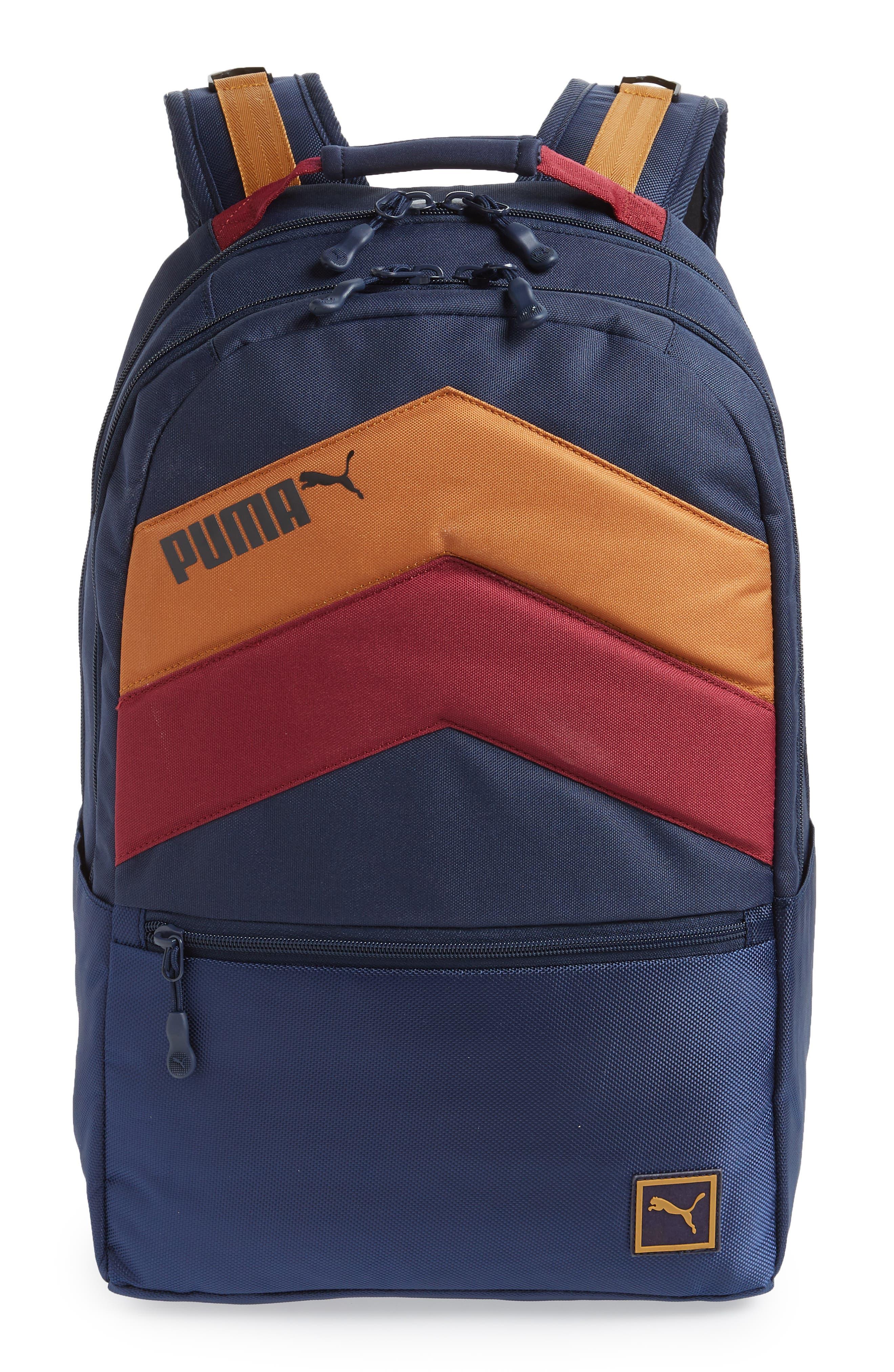 PUMA Ready Backpack, Main, color, NAVY