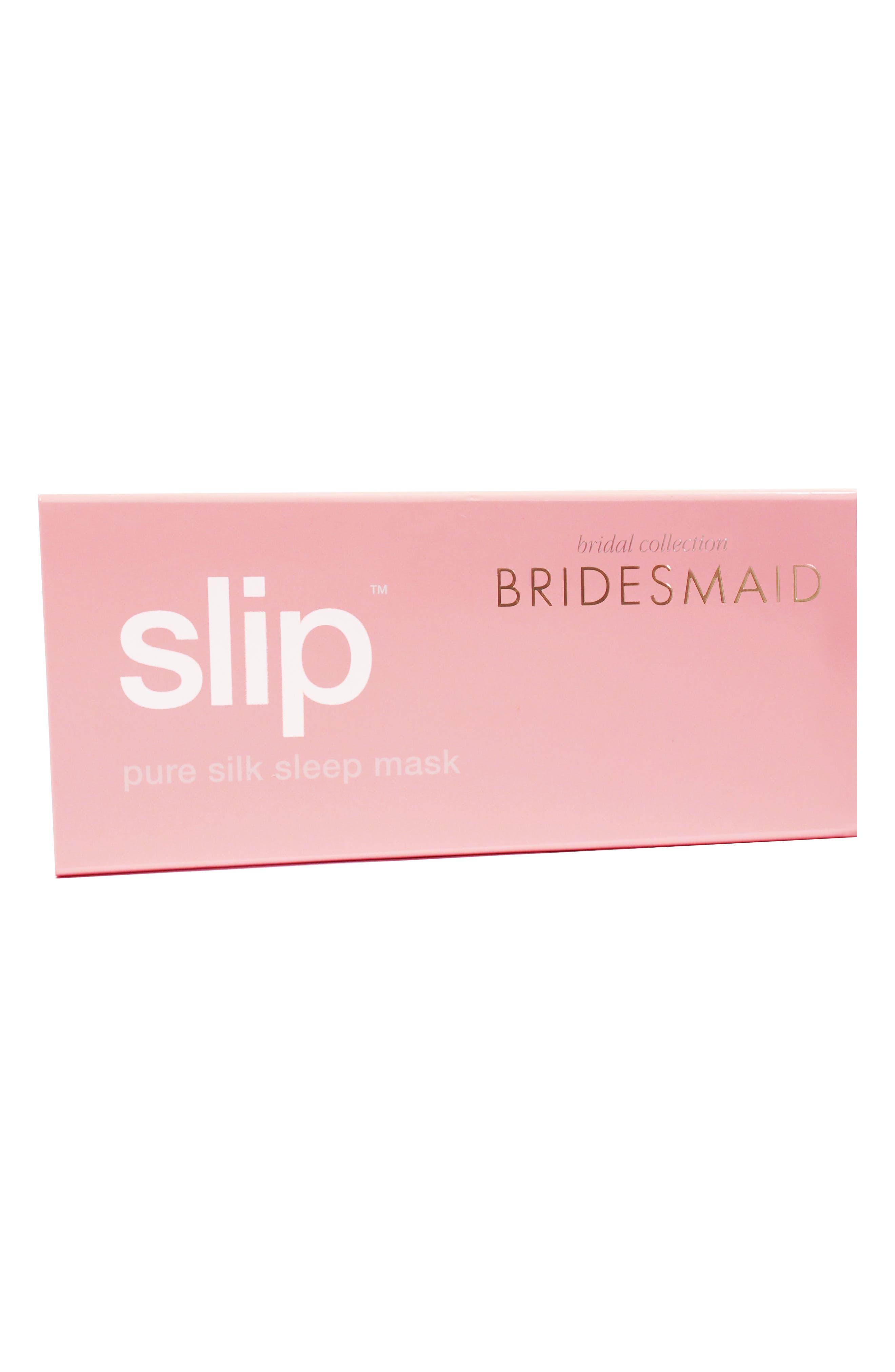 slip<sup>™</sup> for beauty sleep Bridal Slipsilk<sup>™</sup> Pure Silk Sleep Mask,                             Alternate thumbnail 2, color,                             BRIDESMAID