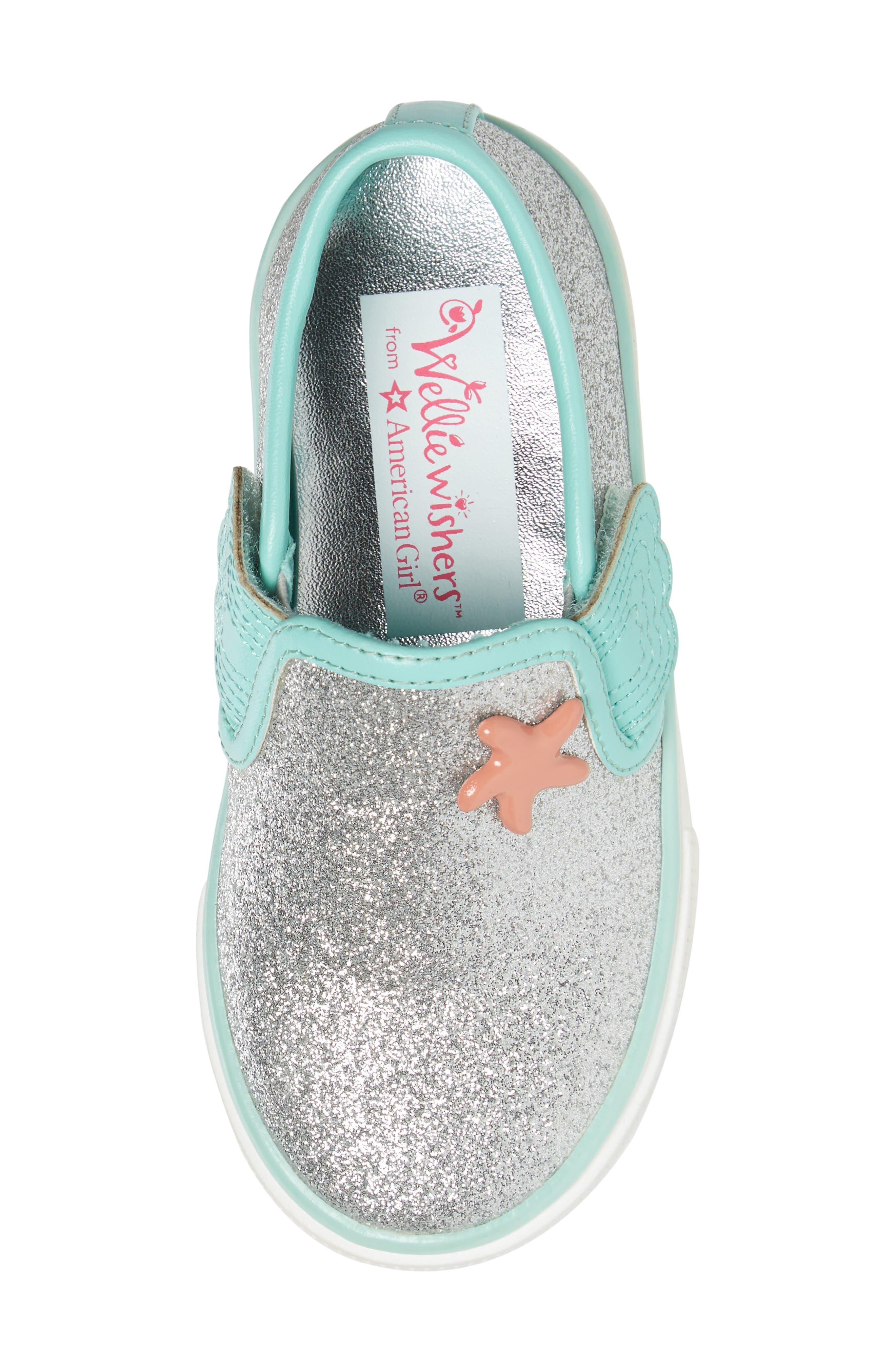 Camille Glitter Slip-On Sneaker,                             Alternate thumbnail 5, color,                             040