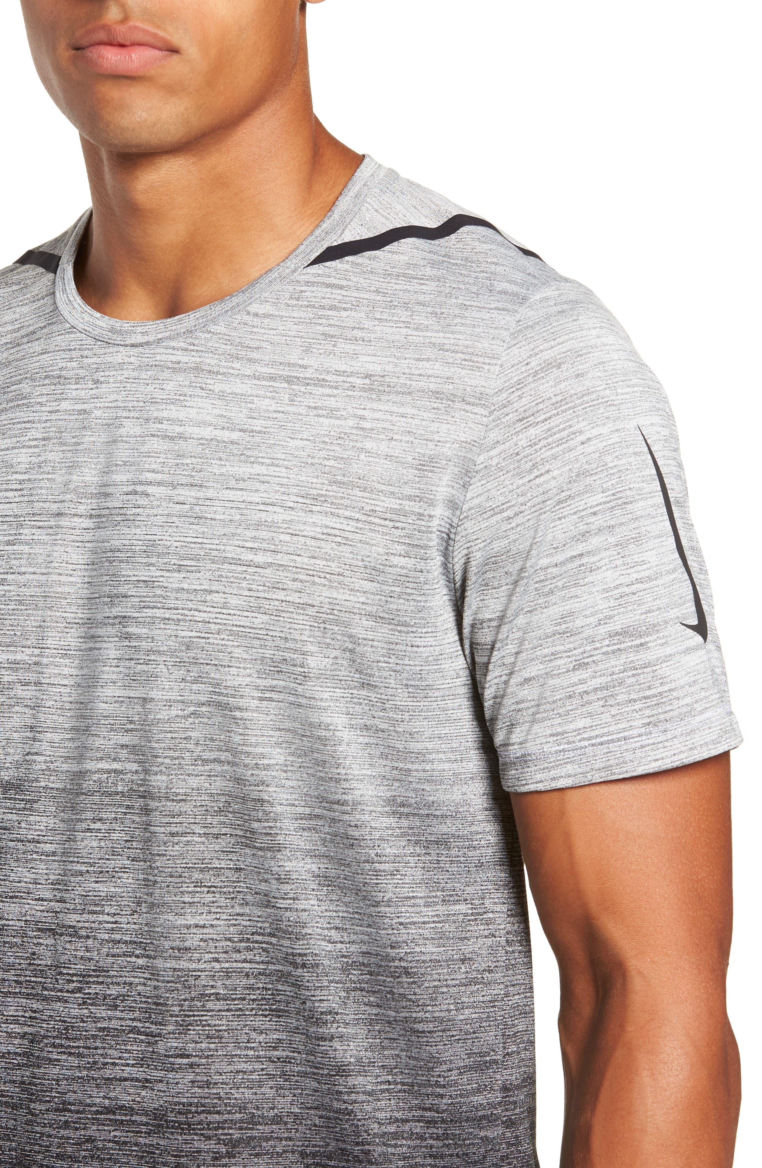 Dry Max Training T-Shirt,                             Alternate thumbnail 4, color,                             BLACK/ WHITE/ HYPER COBALT
