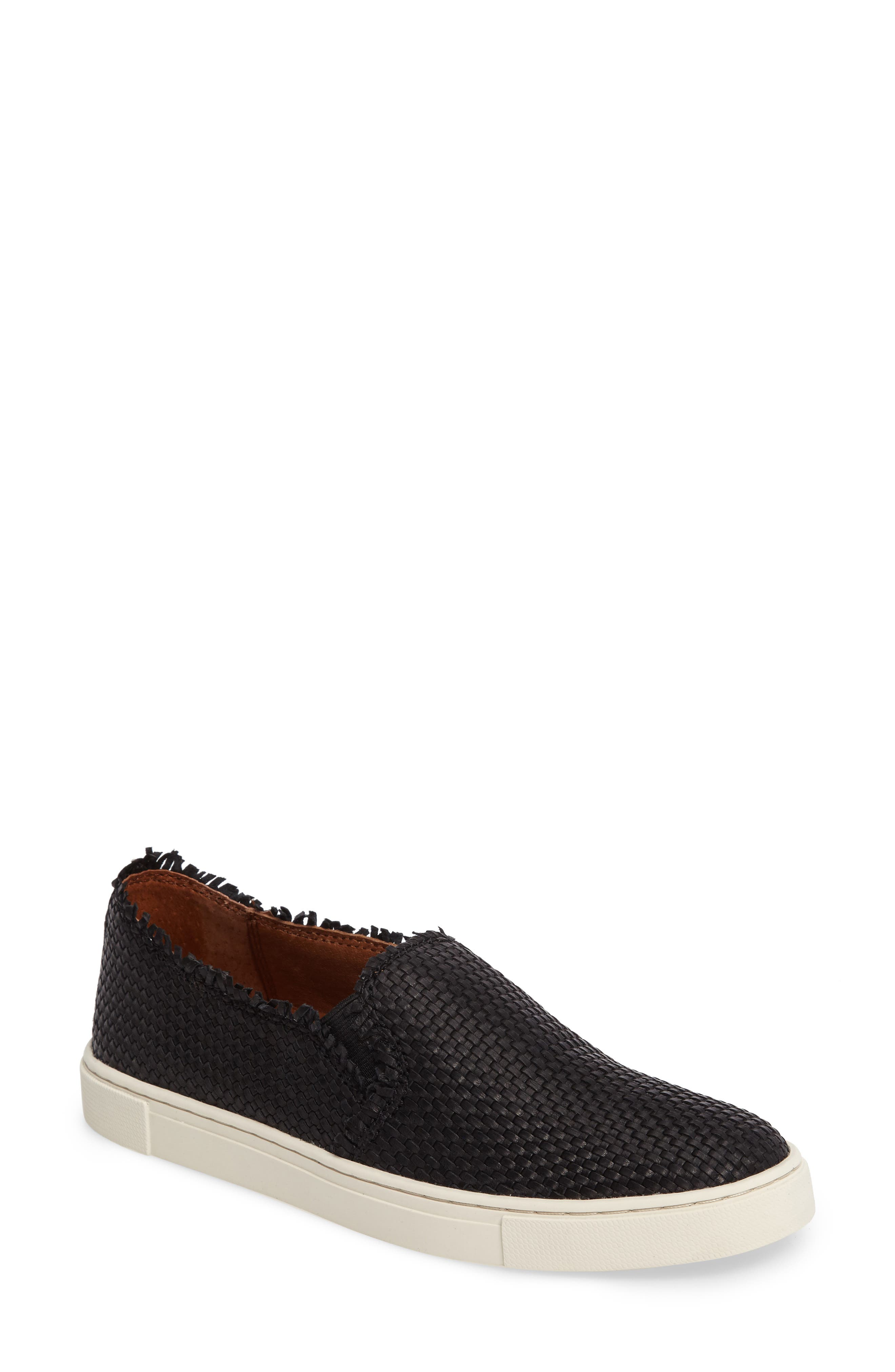 Ivy Fray Woven Slip-On Sneaker,                         Main,                         color, 001