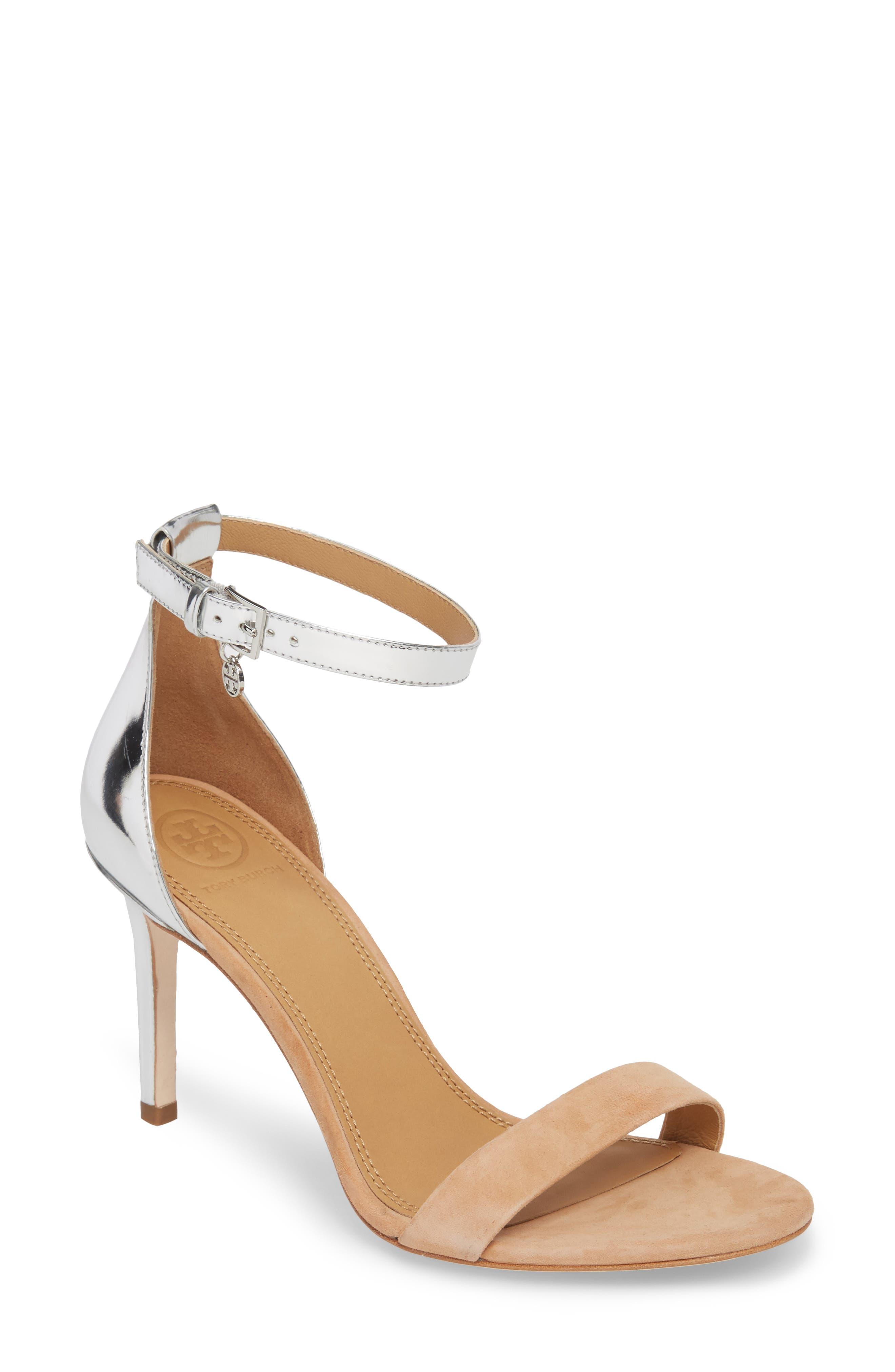 Ellie Ankle Strap Sandal,                             Main thumbnail 1, color,                             020
