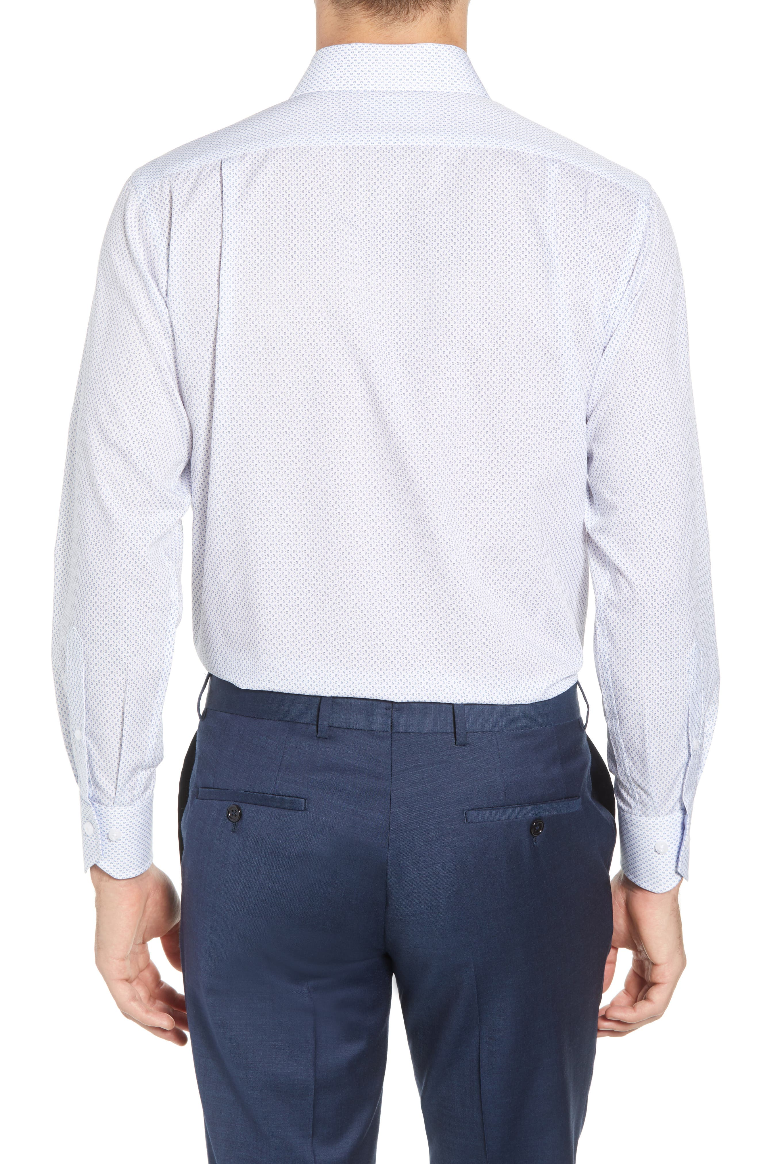 LORENZO UOMO,                             Trim Fit Paisley Dress Shirt,                             Alternate thumbnail 3, color,                             400