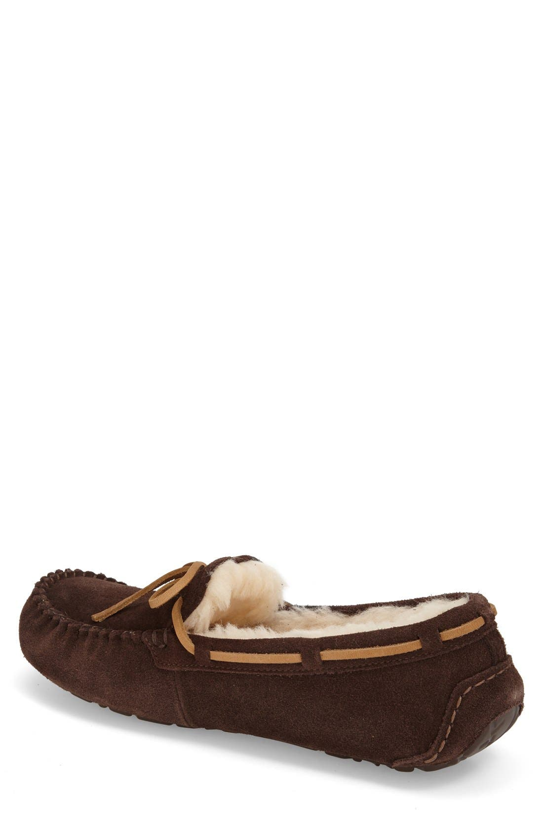 UGG<SUP>®</SUP>,                             'Olsen' Moccasin Slipper,                             Alternate thumbnail 4, color,                             ESPRESSO