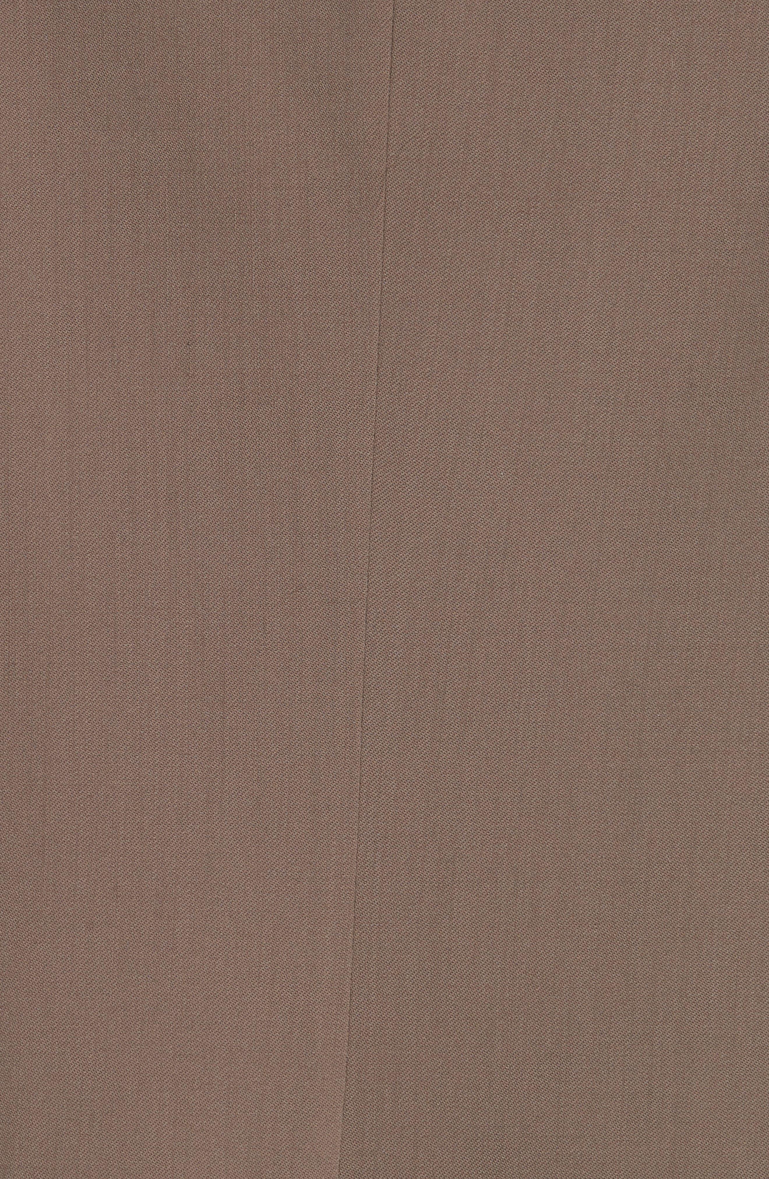 ALEXANDER WANG,                             Leather Cuff Blazer,                             Alternate thumbnail 7, color,                             KHAKI GREEN