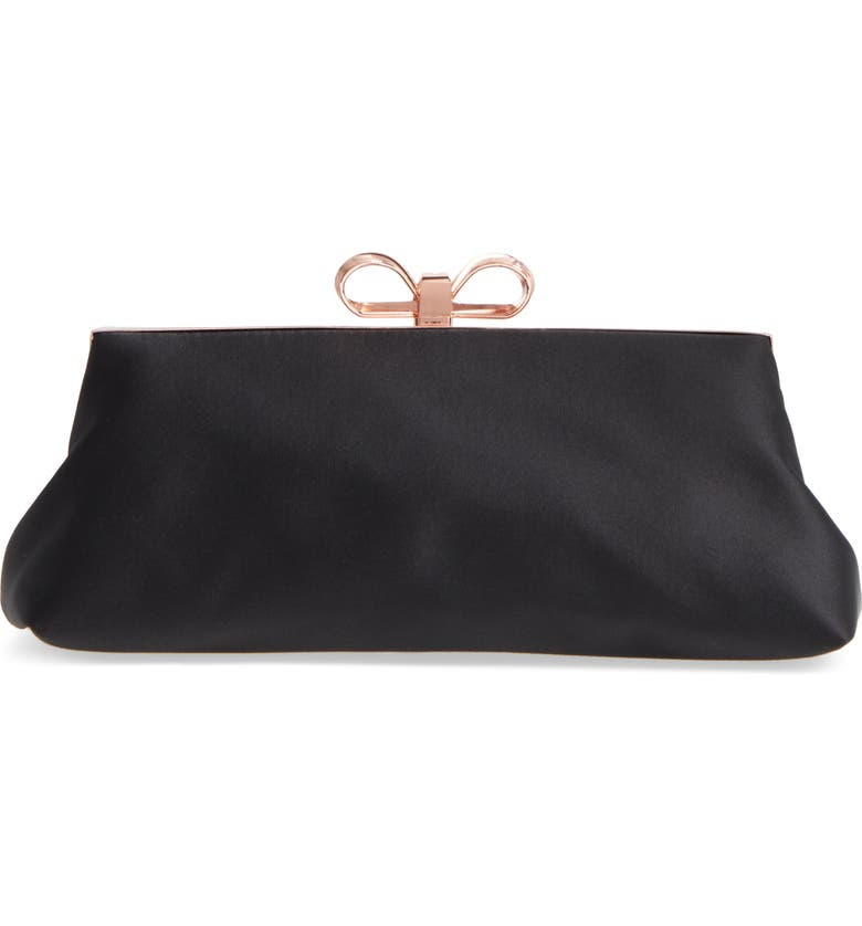 Ted Baker London Small Coletta Bow Satin Clutch Nordstrom
