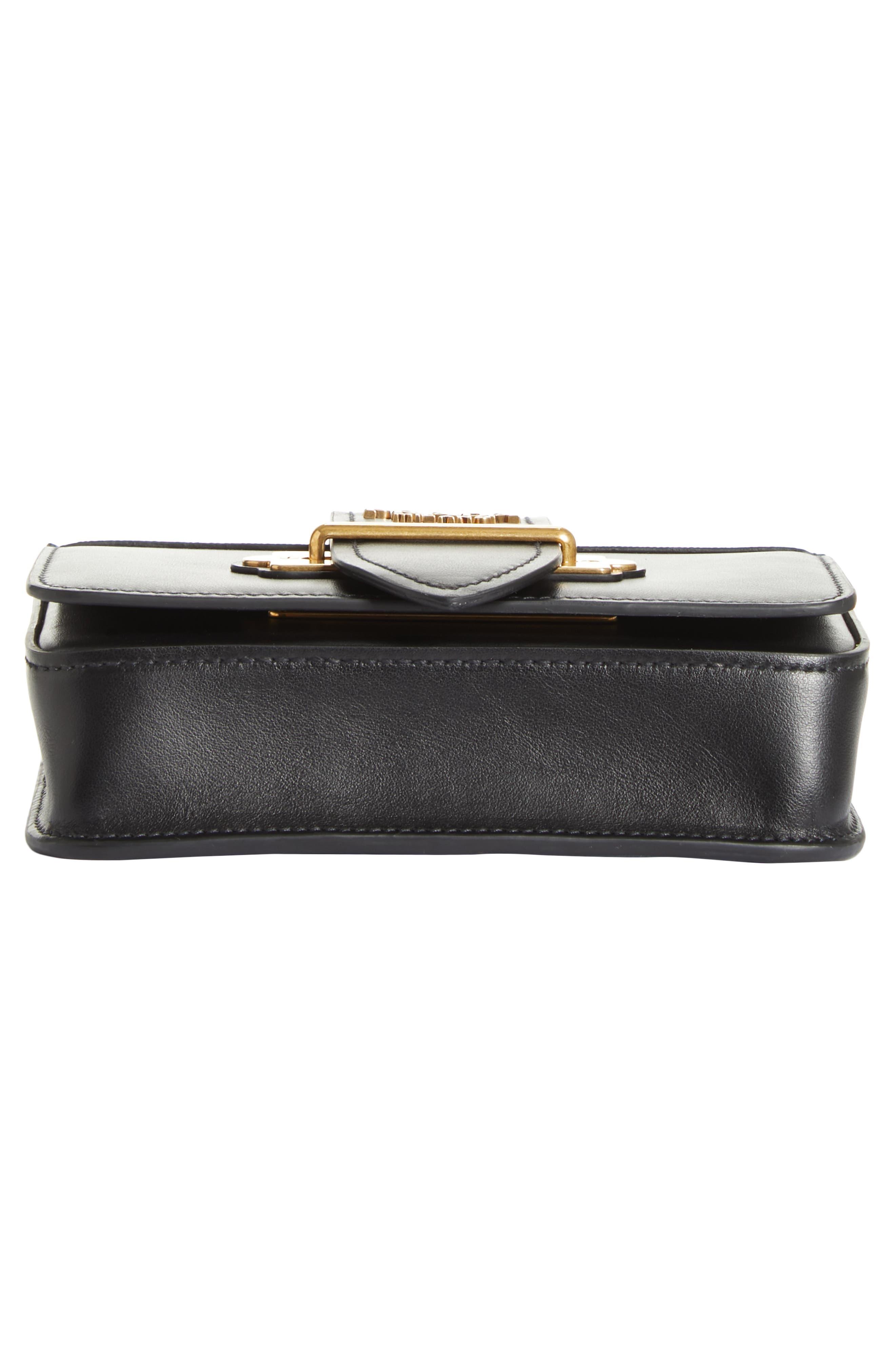 Cahier Calfskin Leather Convertible Belt Bag,                             Alternate thumbnail 6, color,                             001