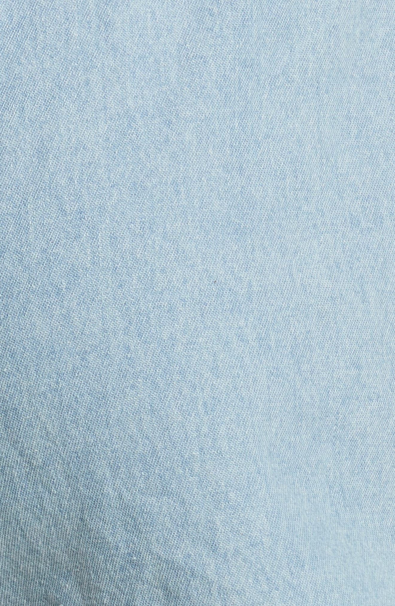 être cécile Rib Retro Shorts,                             Alternate thumbnail 5, color,                             LIGHT BLUE