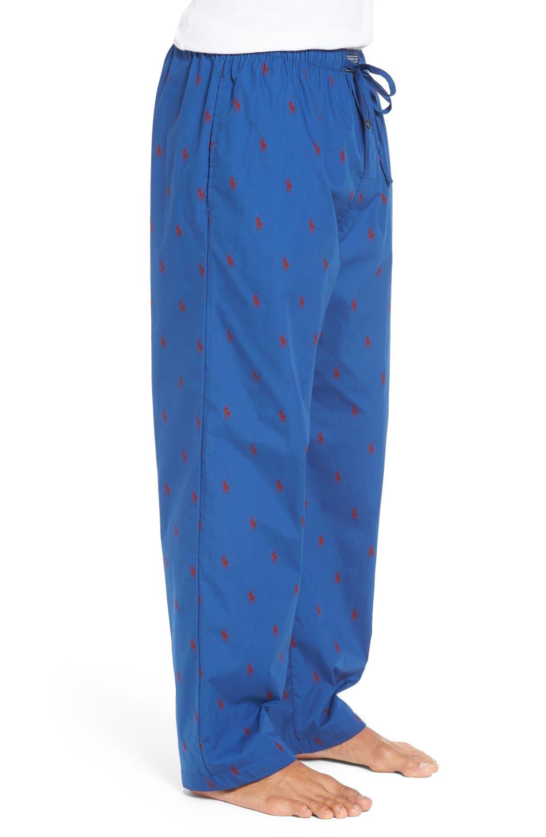 Cotton Lounge Pants,                             Alternate thumbnail 35, color,